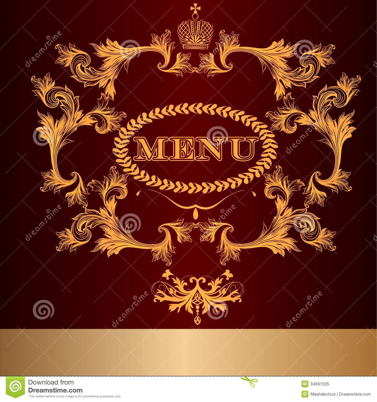 Menu Design In Luxury Royal Style Stock Vector - Illustration of ...