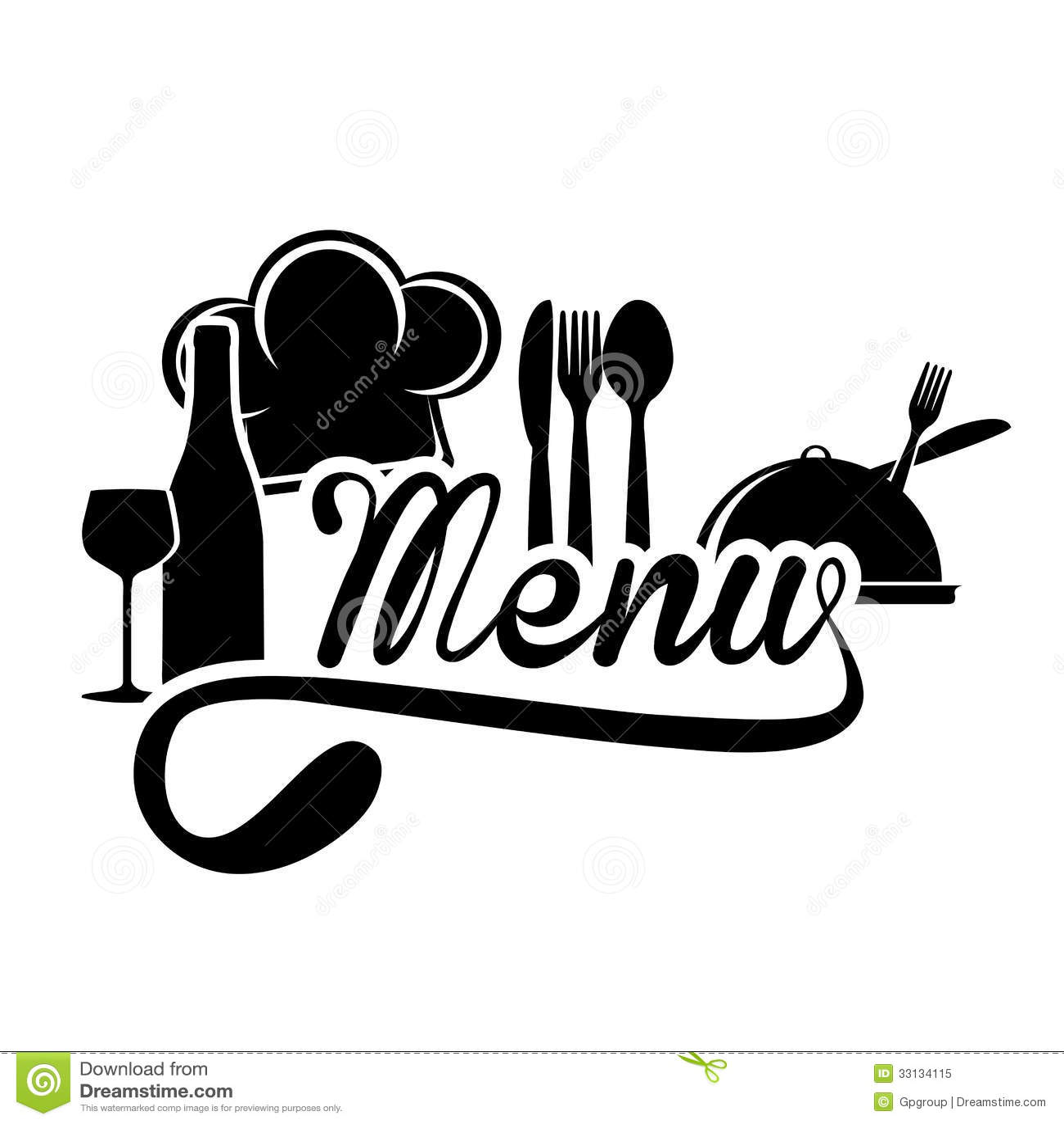 menu design royalty free stock photo image 33134115 Chef Hat Clip Art Black Chef Silhouette