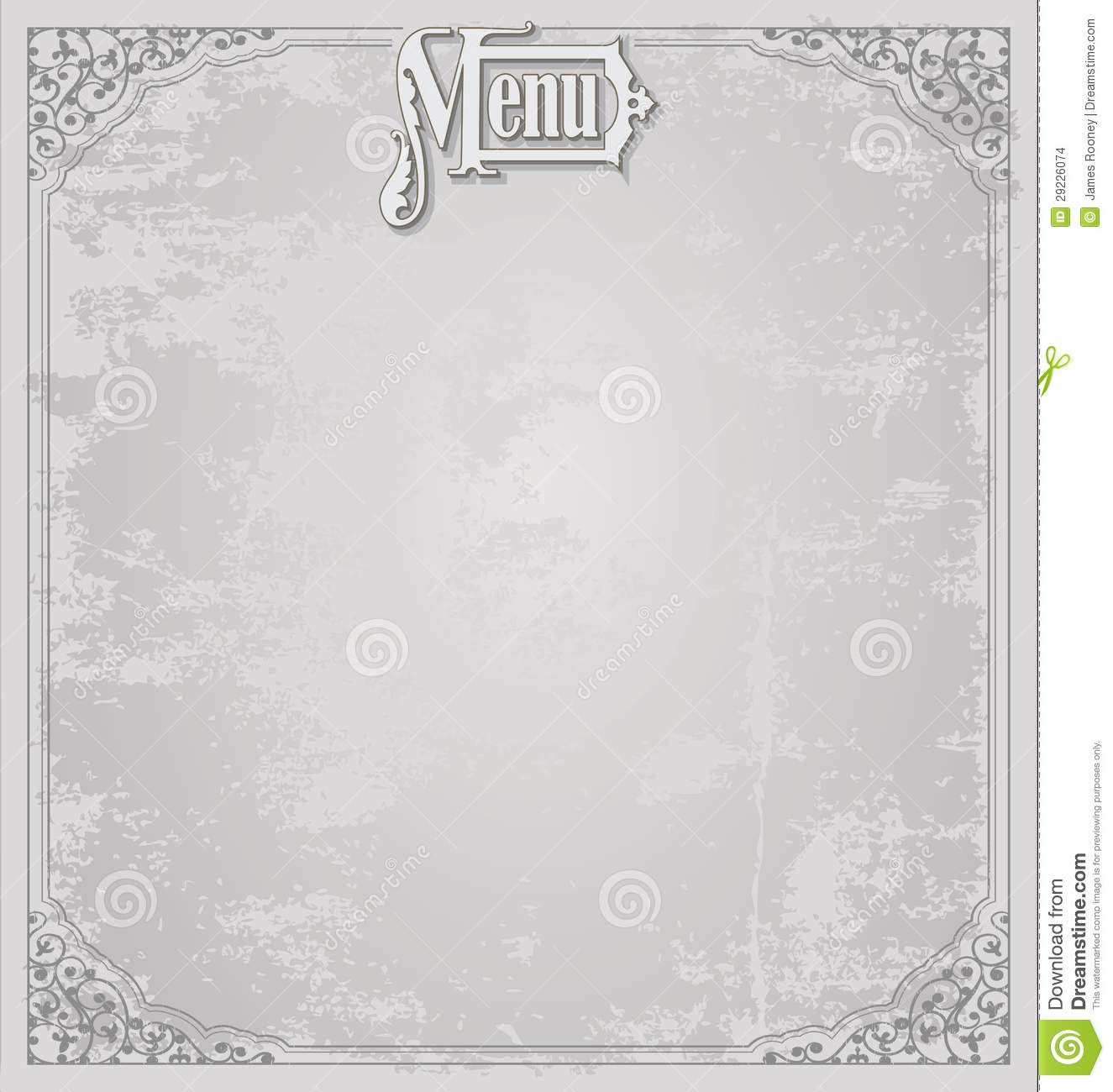 menu design template stock illustration. illustration of elegance