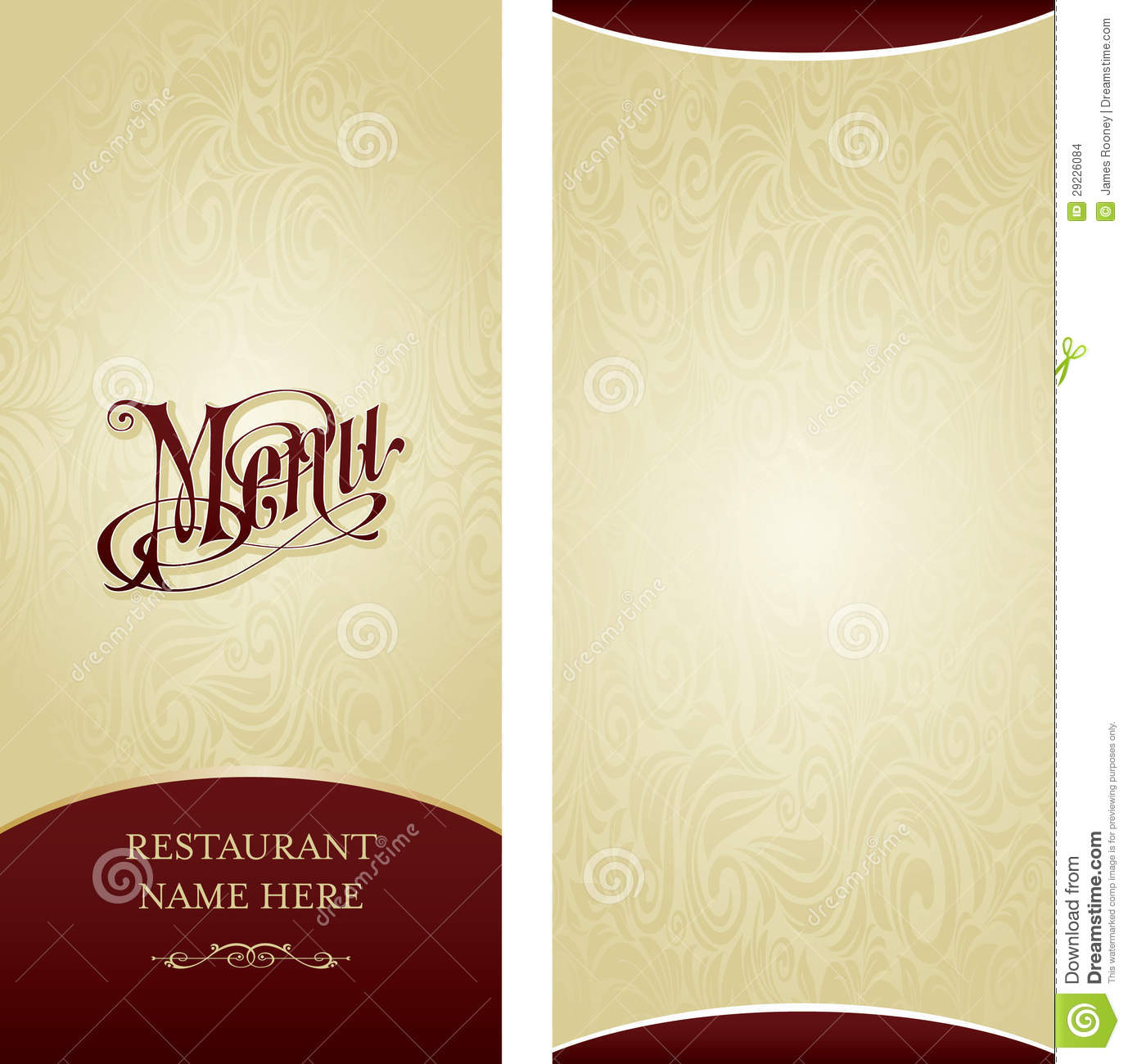 Menu Design Template Decorate Cafe