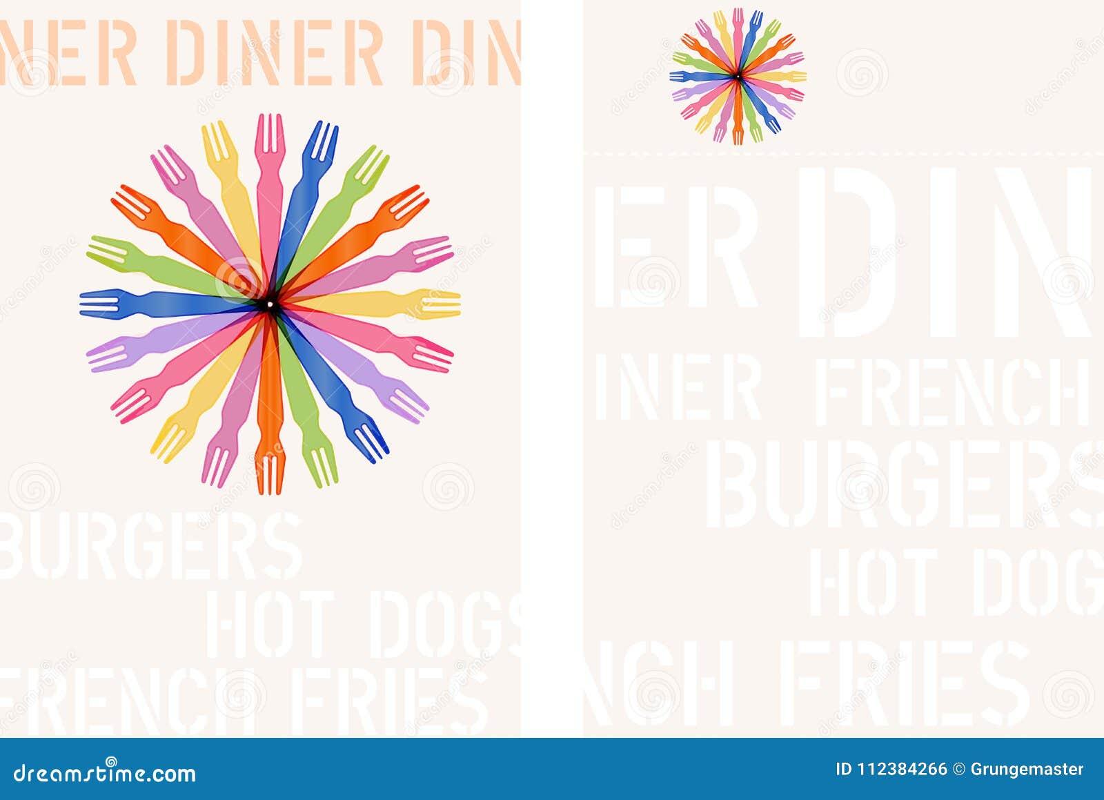 Menu design template for diner or fast food restaurant stock vector download menu design template for diner or fast food restaurant stock vector illustration of diner maxwellsz