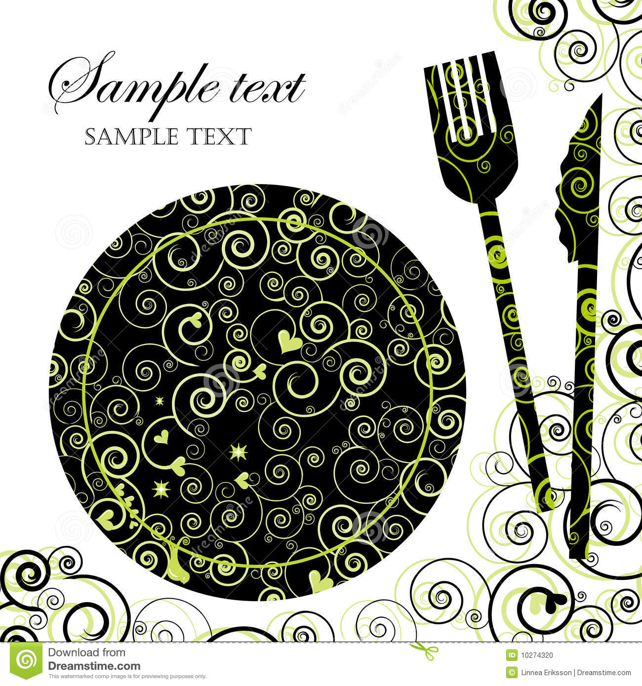 Menu Or Dinner Party Invitation Photo Image 10274320 – Free Dinner Invitations