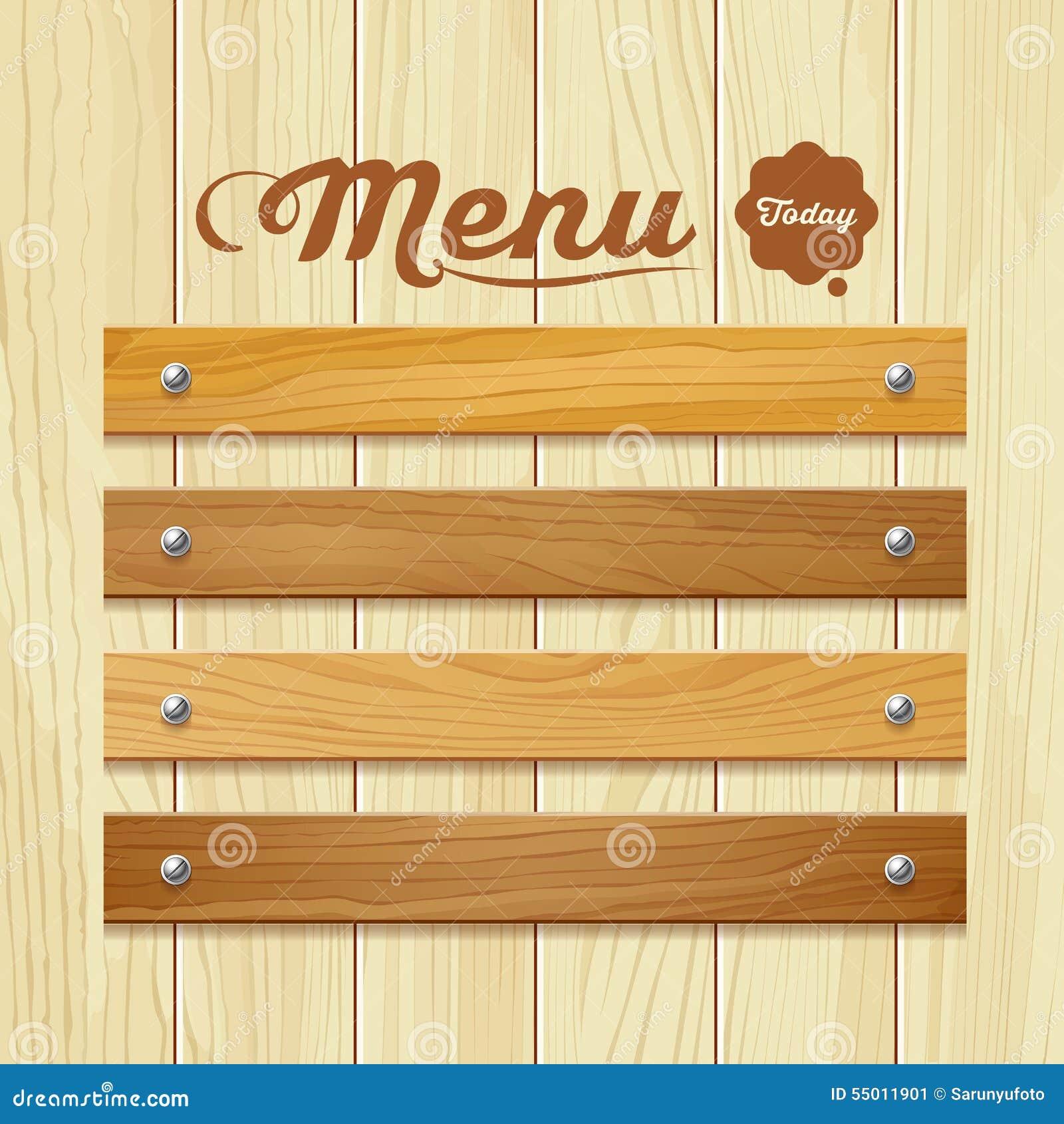 Menu drewna deski projekta t o ilustracja wektor obraz for Asian cuisine ppt