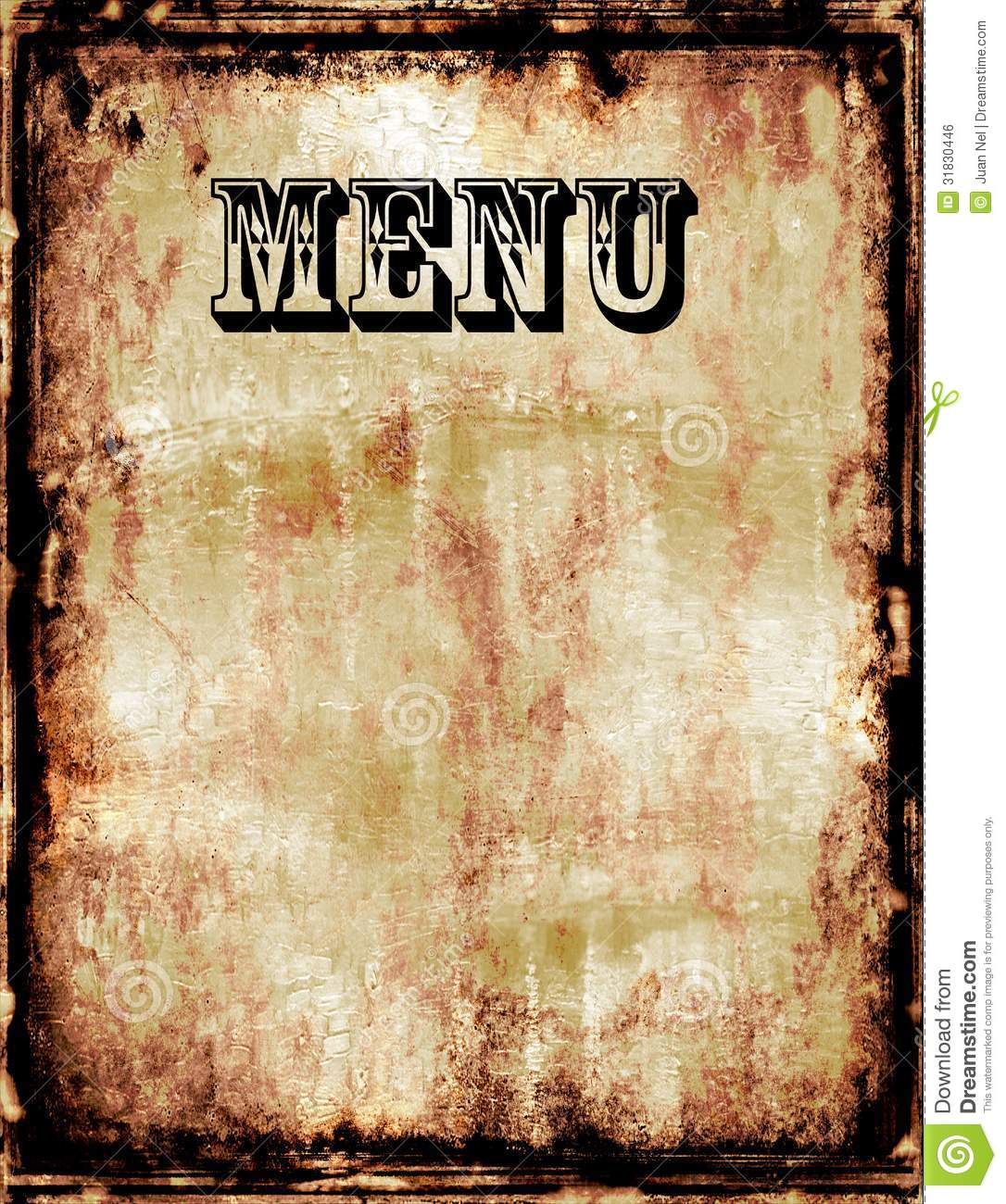Blank Menu Template  Lunch Menu Template Free