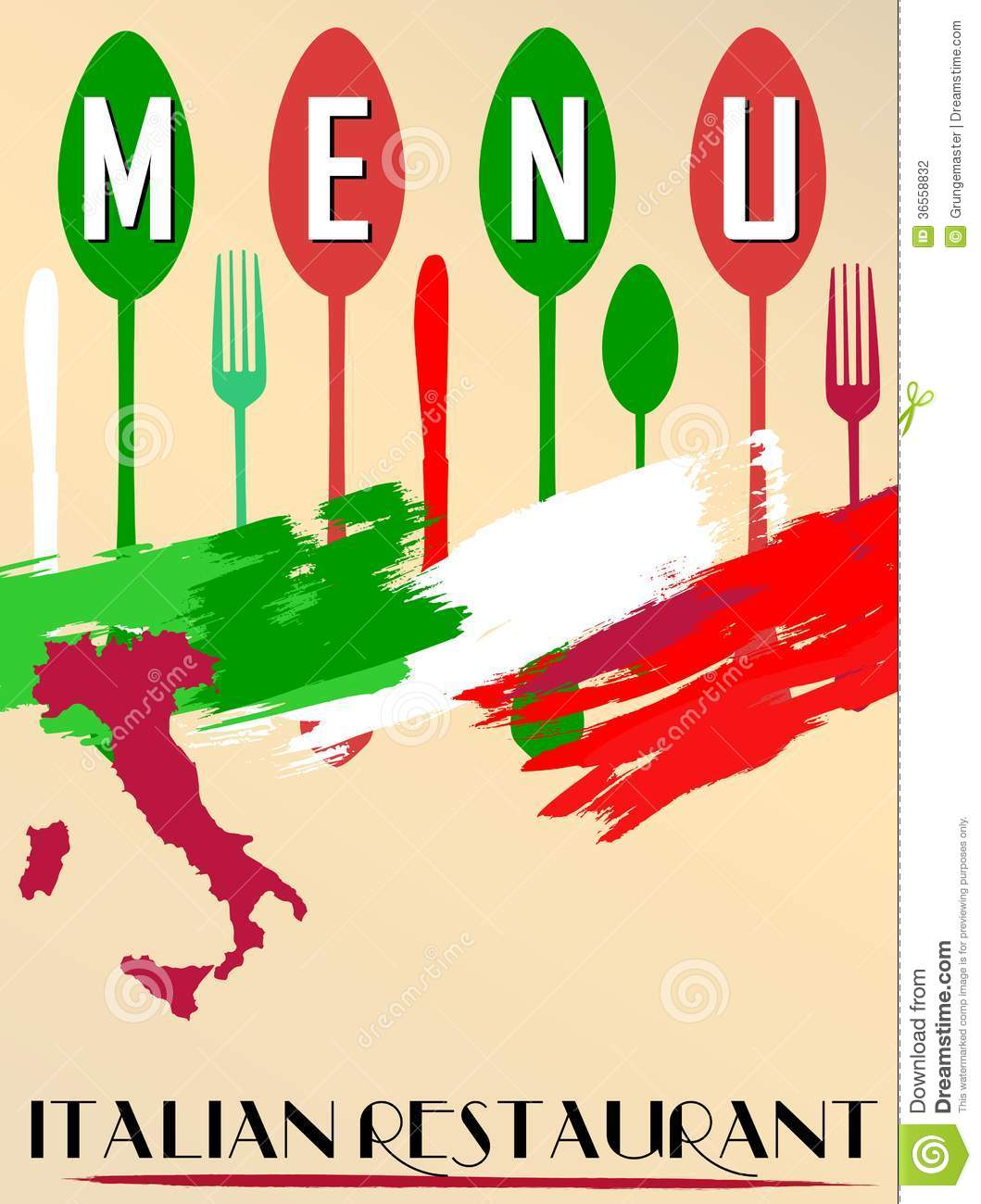 Menu For Italian Restaurant, Stock Photography - Image: 36558832