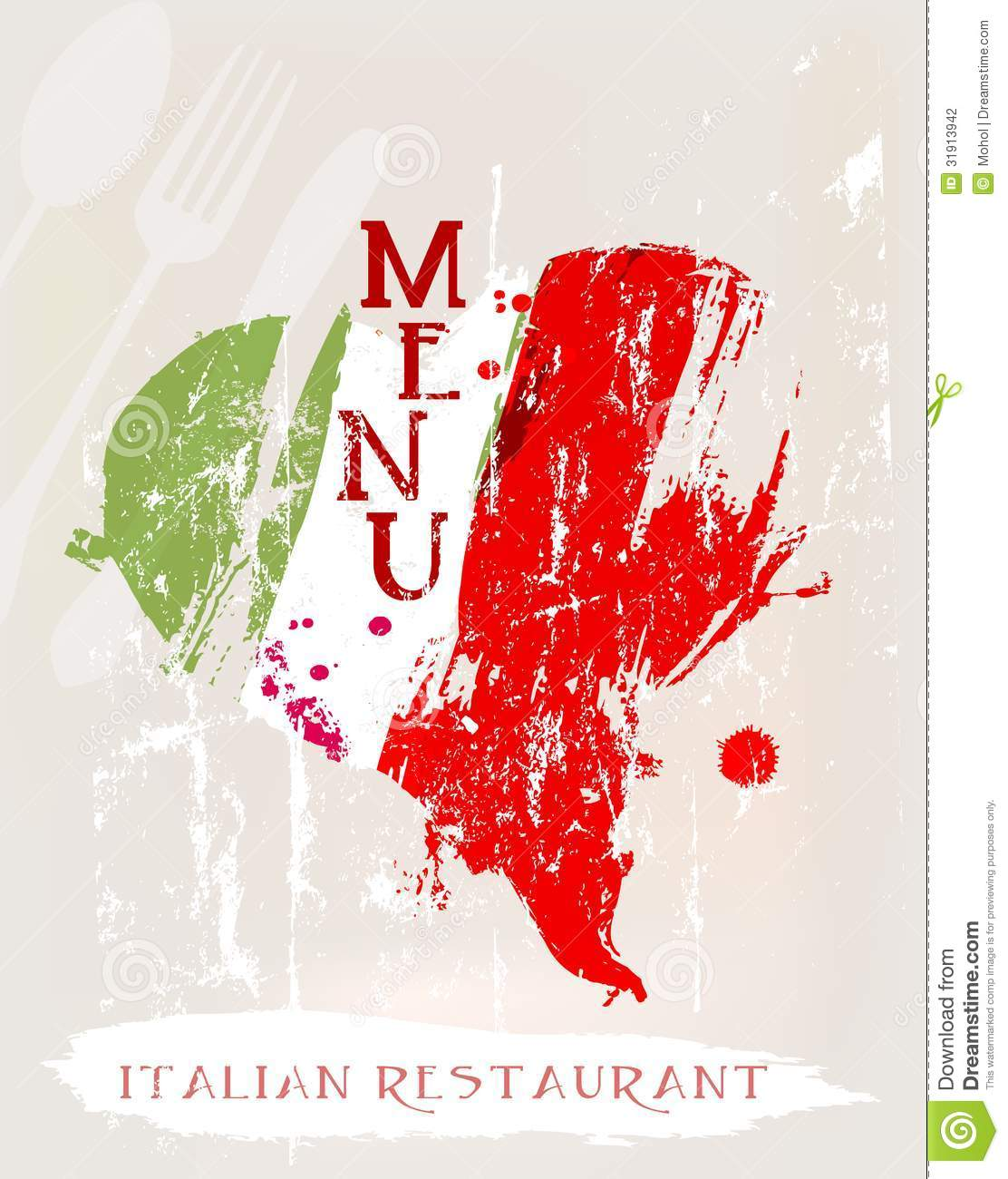 Italian Restaurant Names: Menu Stock Photography