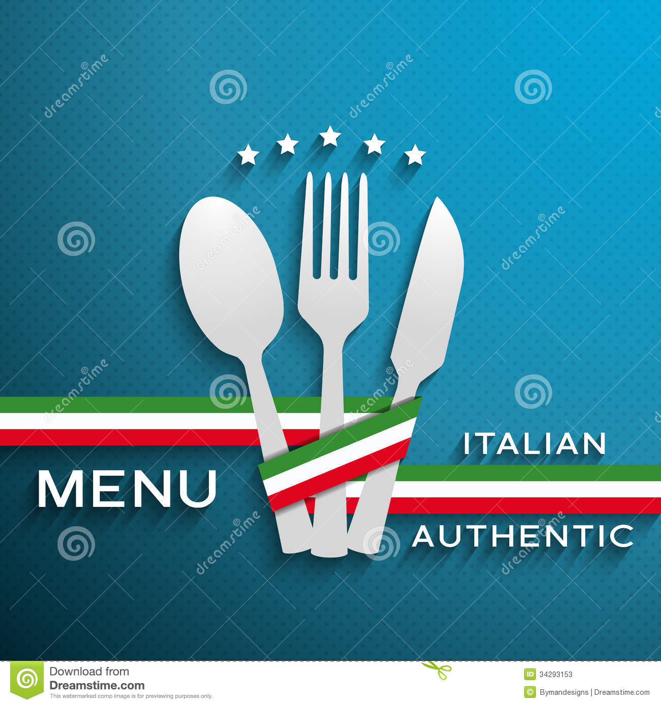 Menu Italian stock vector. Image of presentation, kitchen ...