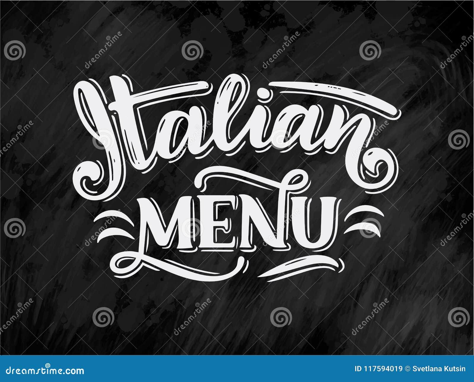 Menu Italiano Do Alimento Nomes Dos Pratos Frases Da Rotulacao