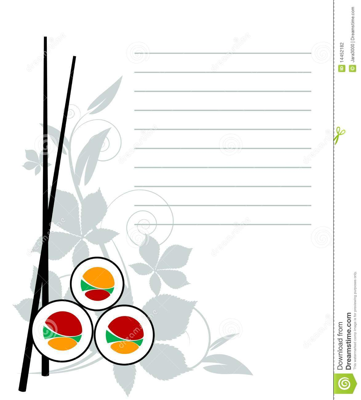 Menu japanese restaurant stock vector image of design for Max fish menu