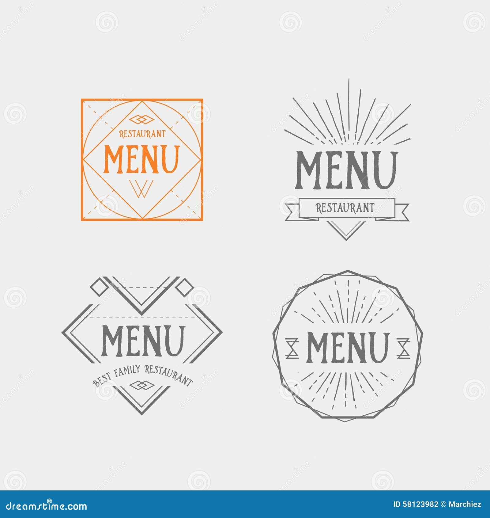Menu and Logo Design for Restaurants  Nicholas and Company