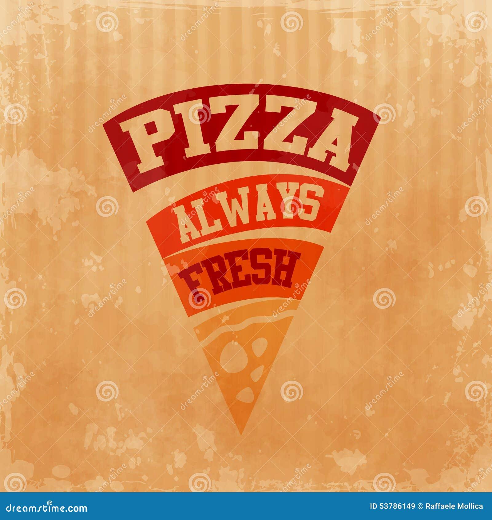Menu pizzy karton zawsze świeży