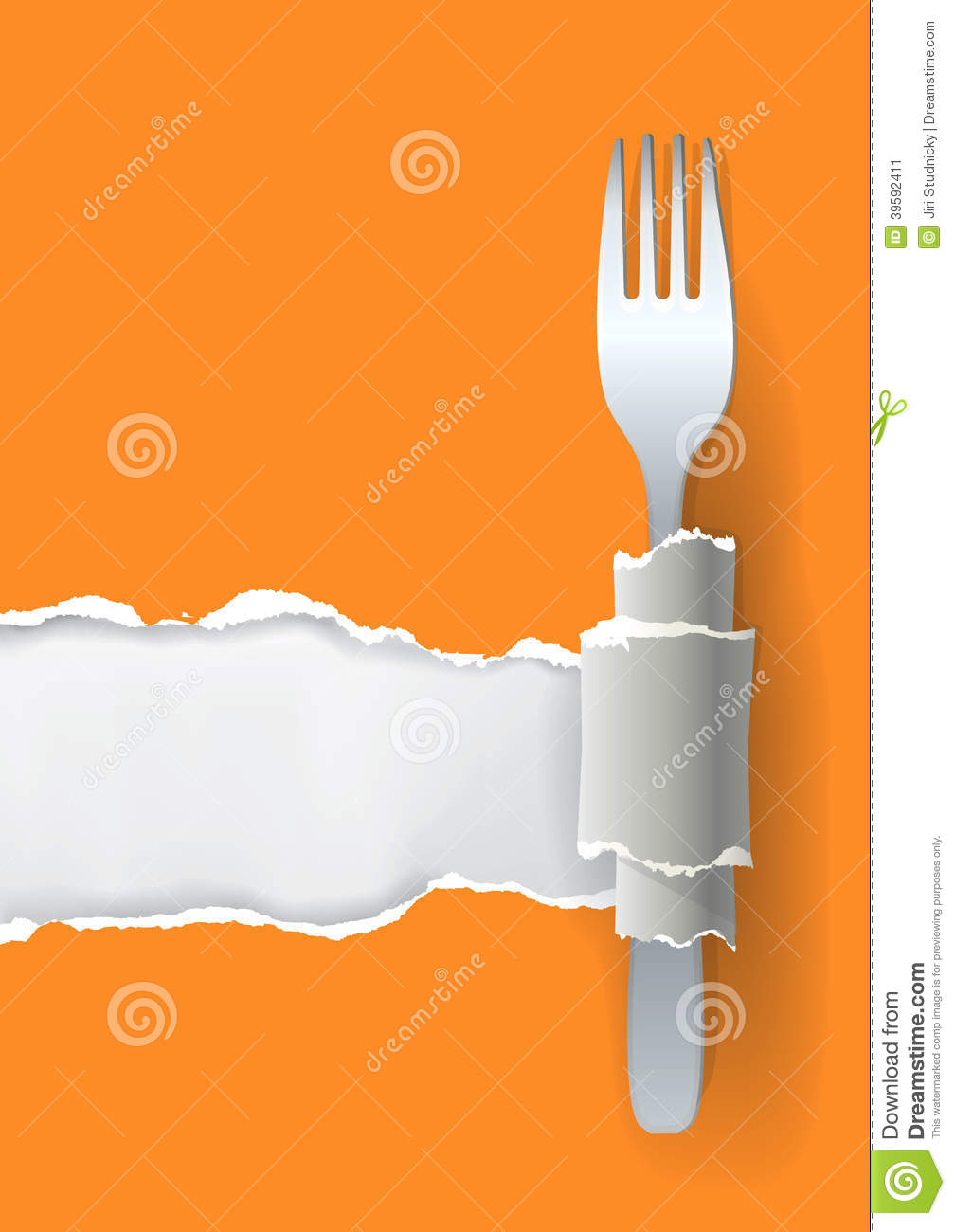 ... for your image or text, with fork. Concept for restaurant design