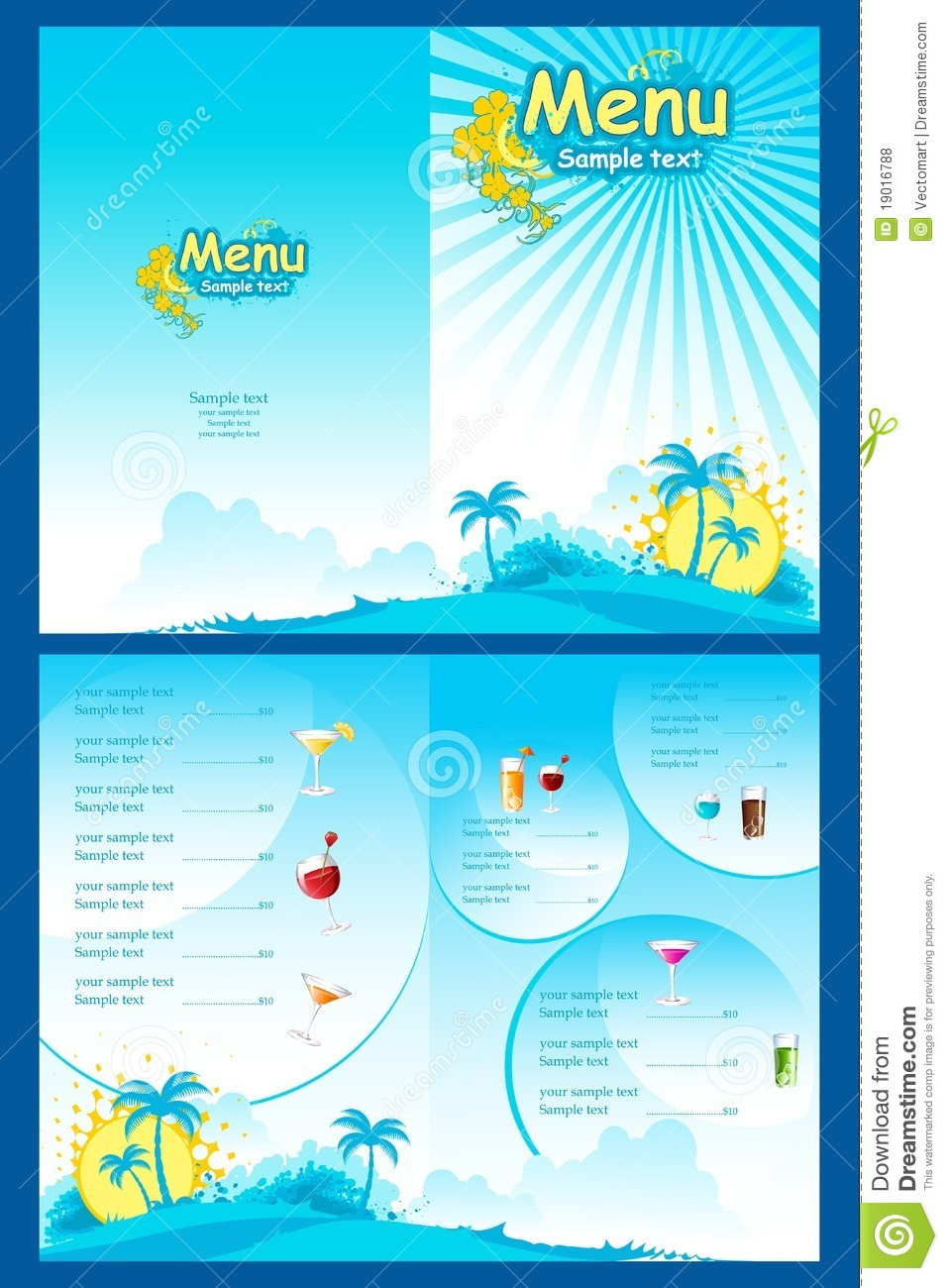 menu template stock vector  image of abstract  equipment