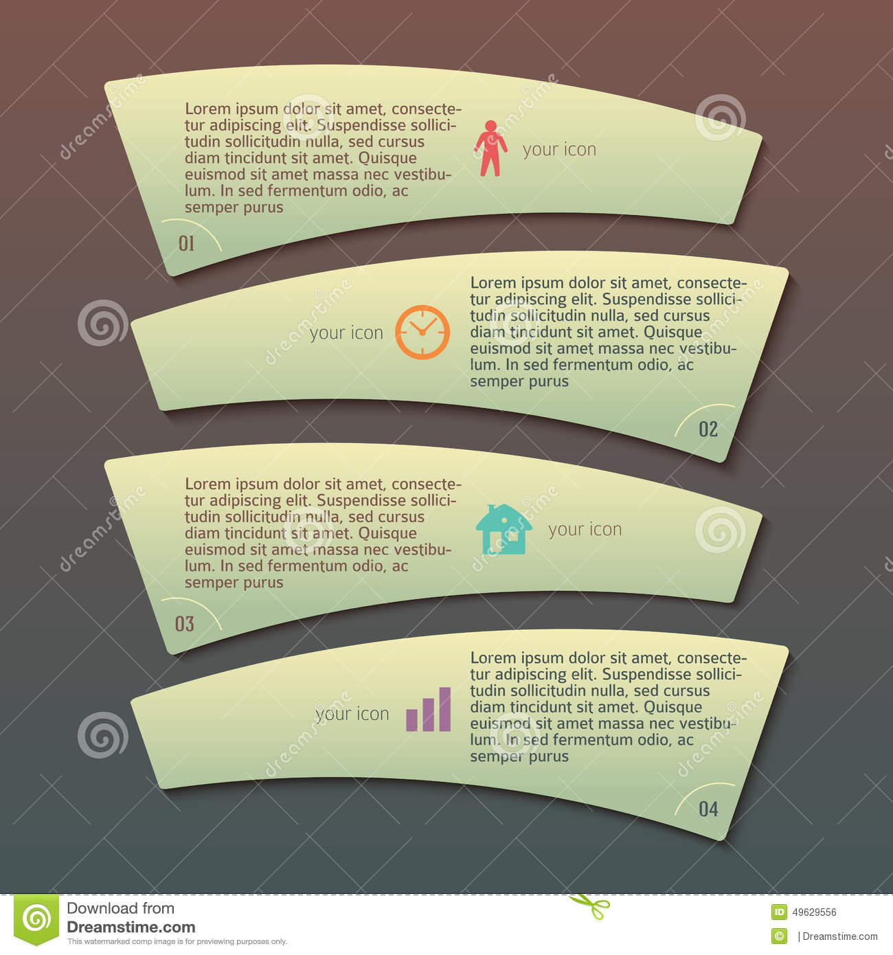 Menu Template Business Process Company Report Stock Vector - Image ...