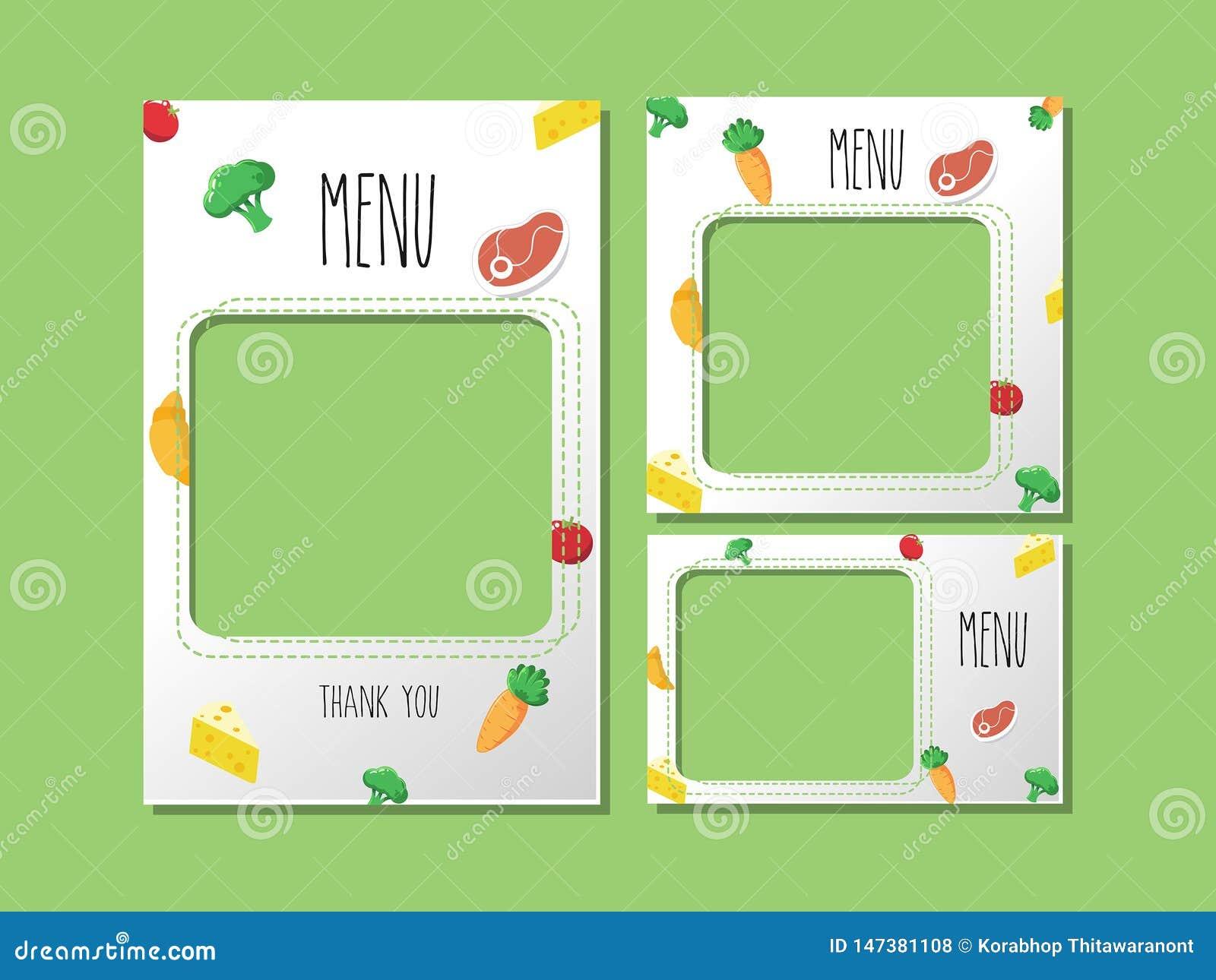 Banner food template Vegetables design art work.