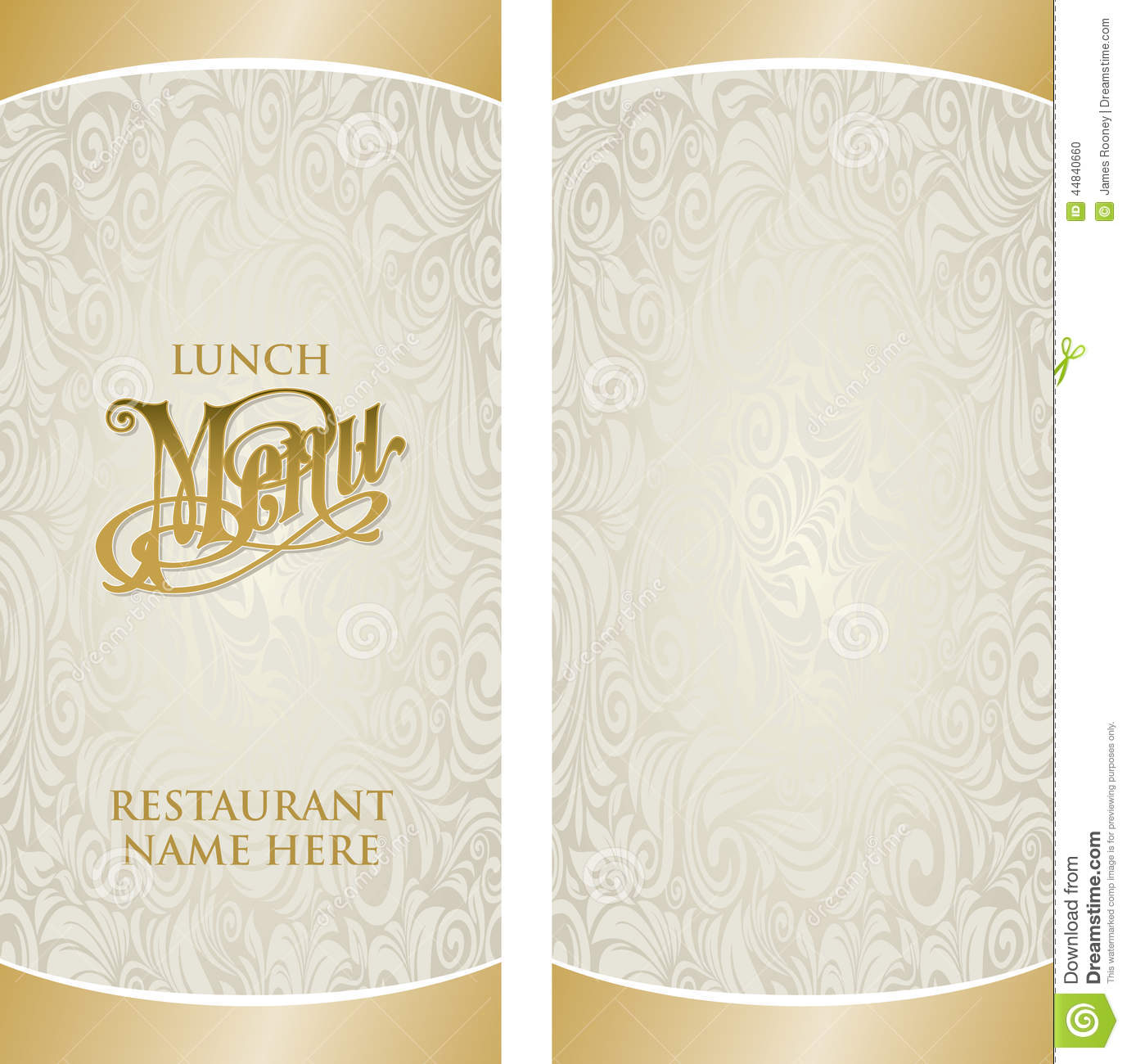 Menu Template. Royalty Free Vector  Lunch Menu Template Free