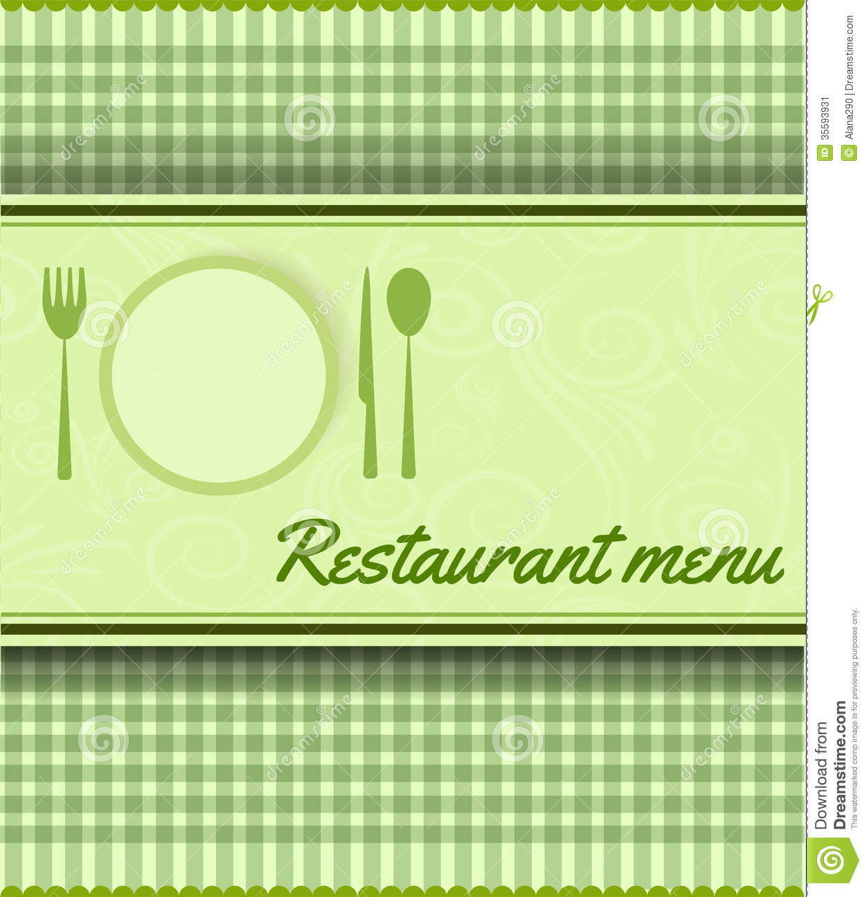 Menu Template For Restaurant Stock Image Image 35593931