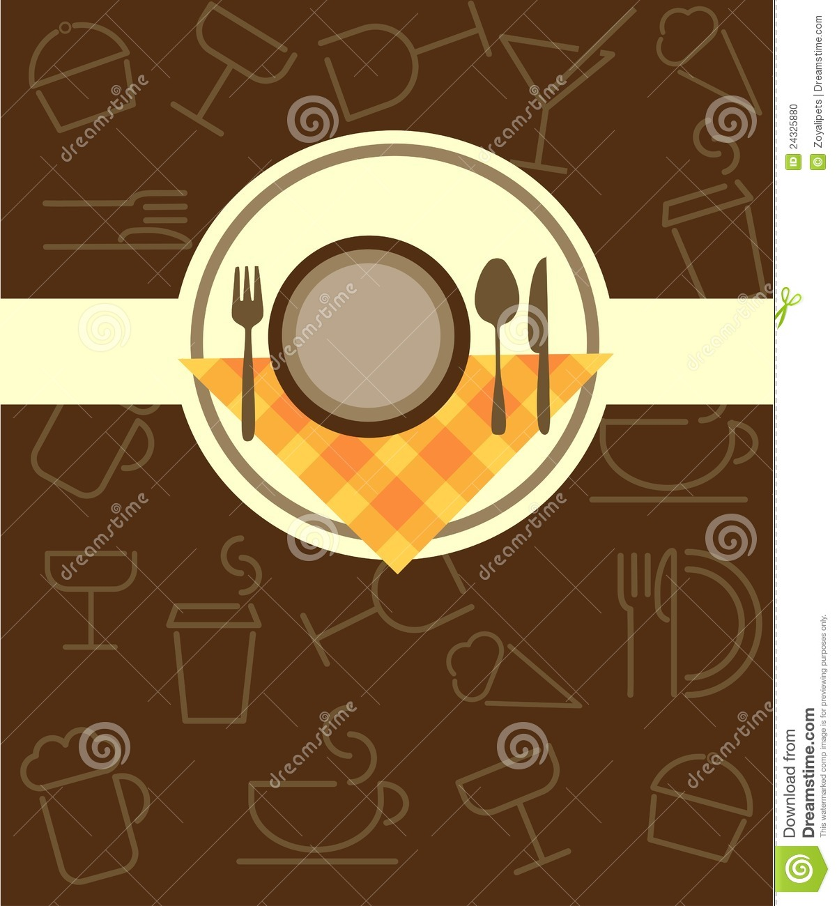 Menu Template For Restaurant Or Coffee Bar Stock Photo