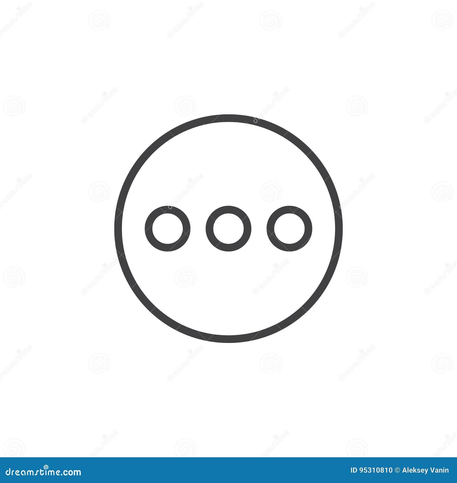 Menu, une ligne plus circulaire icône Signe simple rond