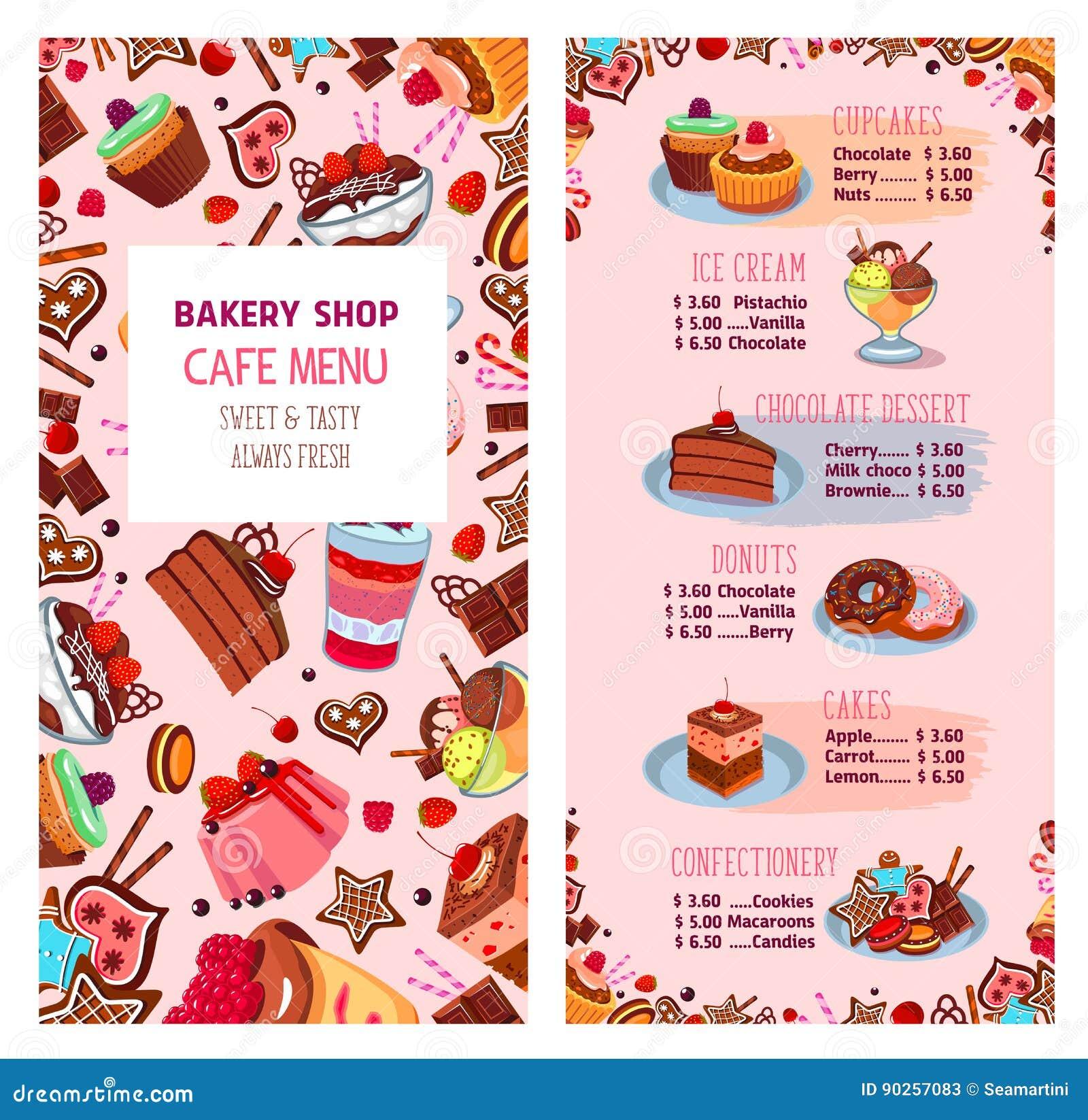 Graphic Design Cafe Menu