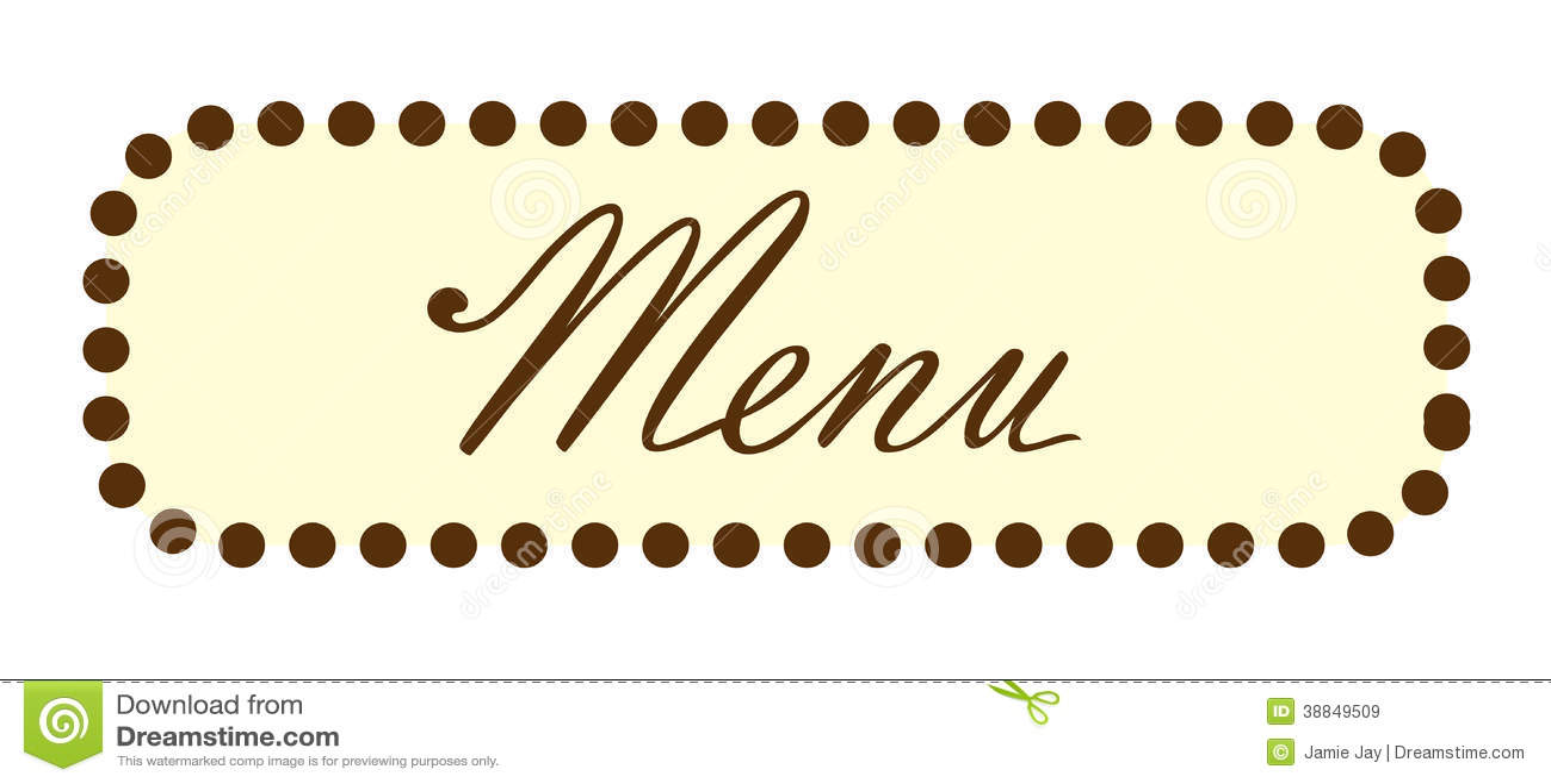menu word