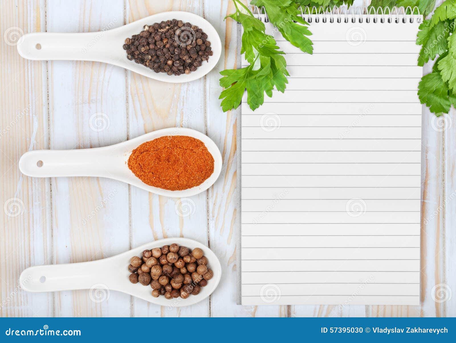 Menuachtergrond Kokboek gestemd beeld Uitstekend beeld van recept
