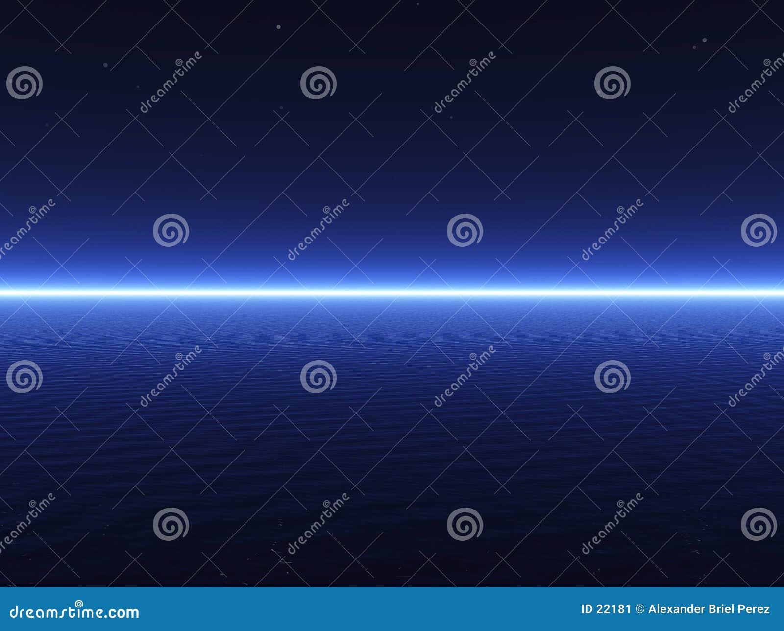 Mer 3D bleu-foncé
