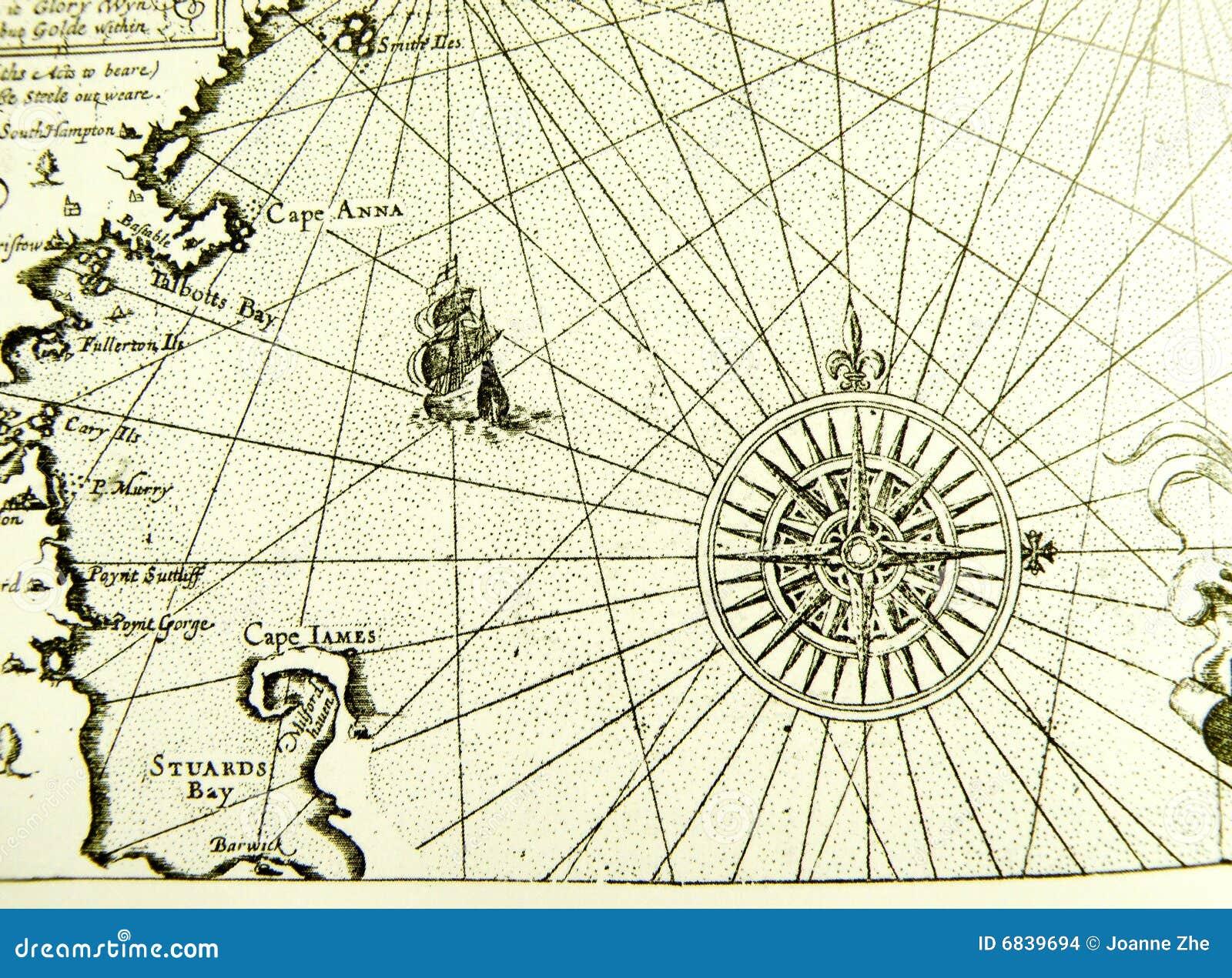Carte Antique Du Monde, Compas Photo stock - Image du géographie ...