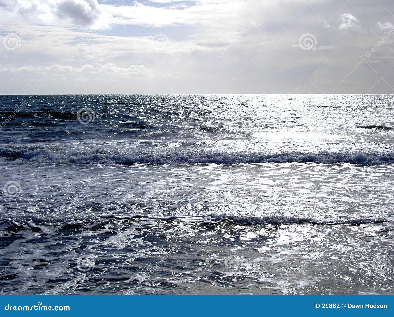 Mer argentée