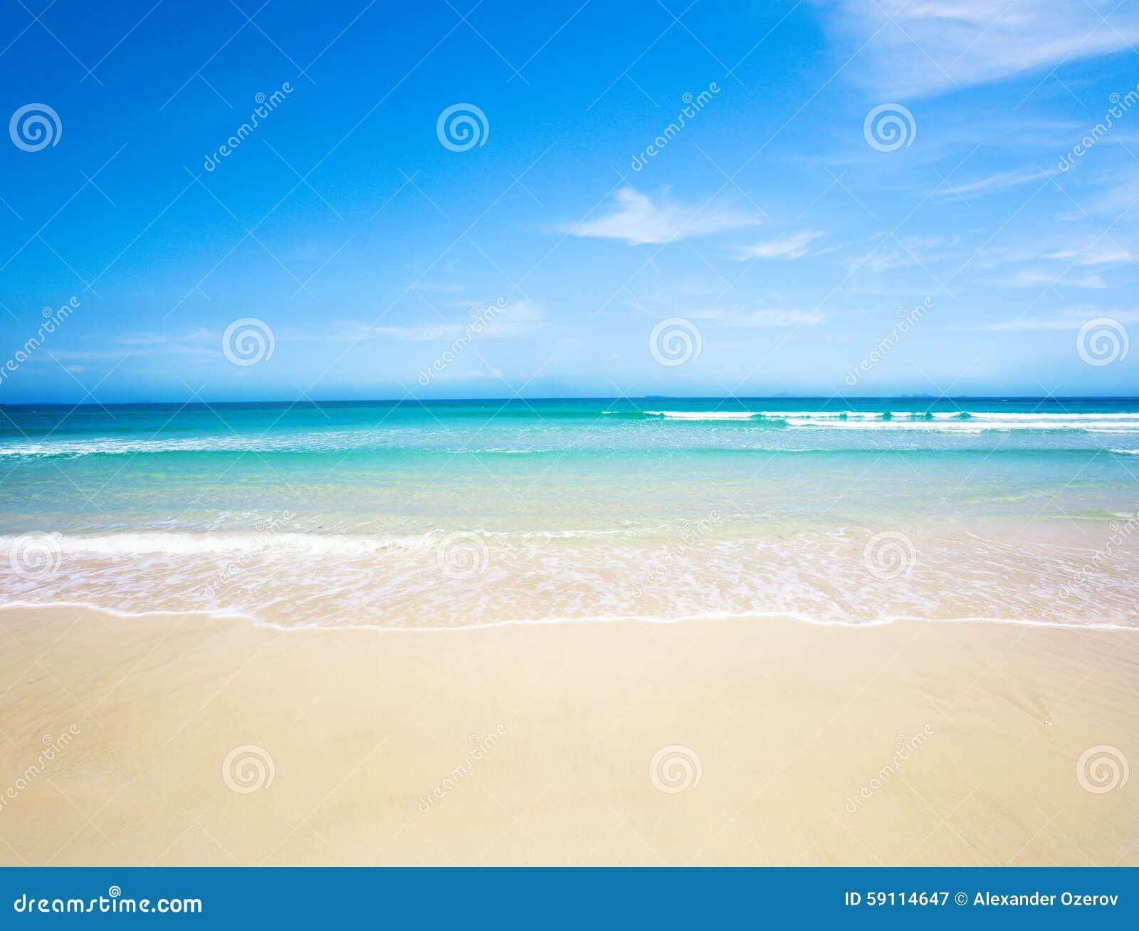 Mer de plage tropicale
