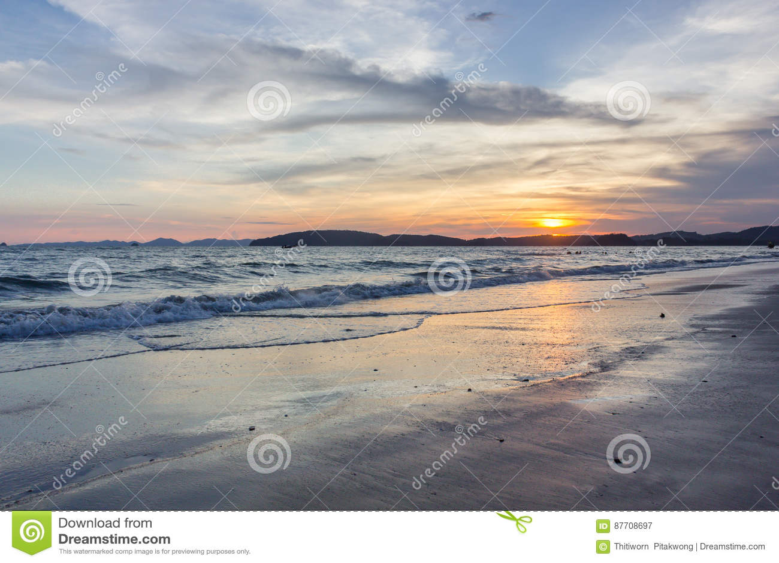 Mer de province de thailandKrabi