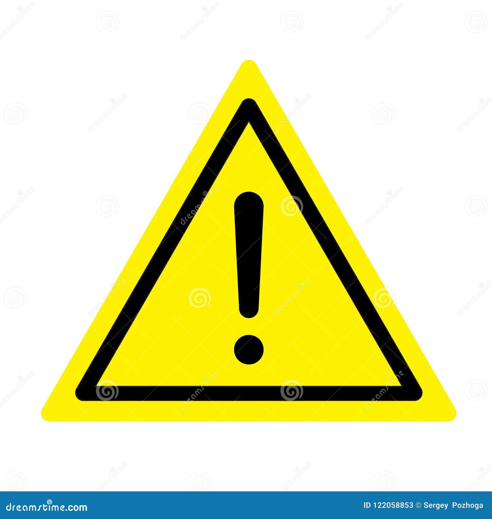 Mer mitt portföljtecken undertecknar varning Ett symbol av utrop