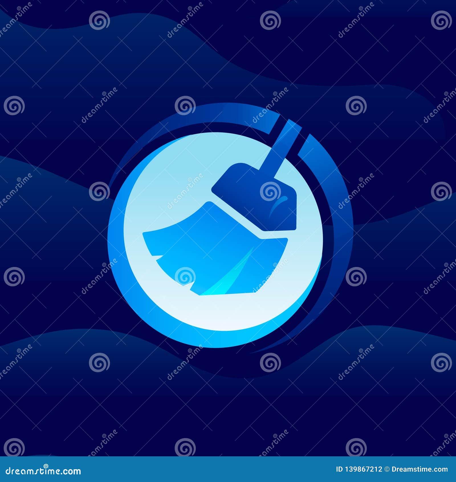 Mer ren symbol/logo Konstillustration