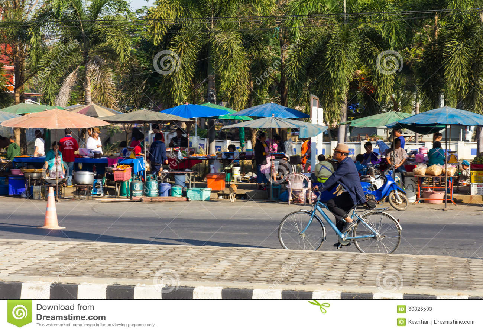 Mercado Biking del hombre