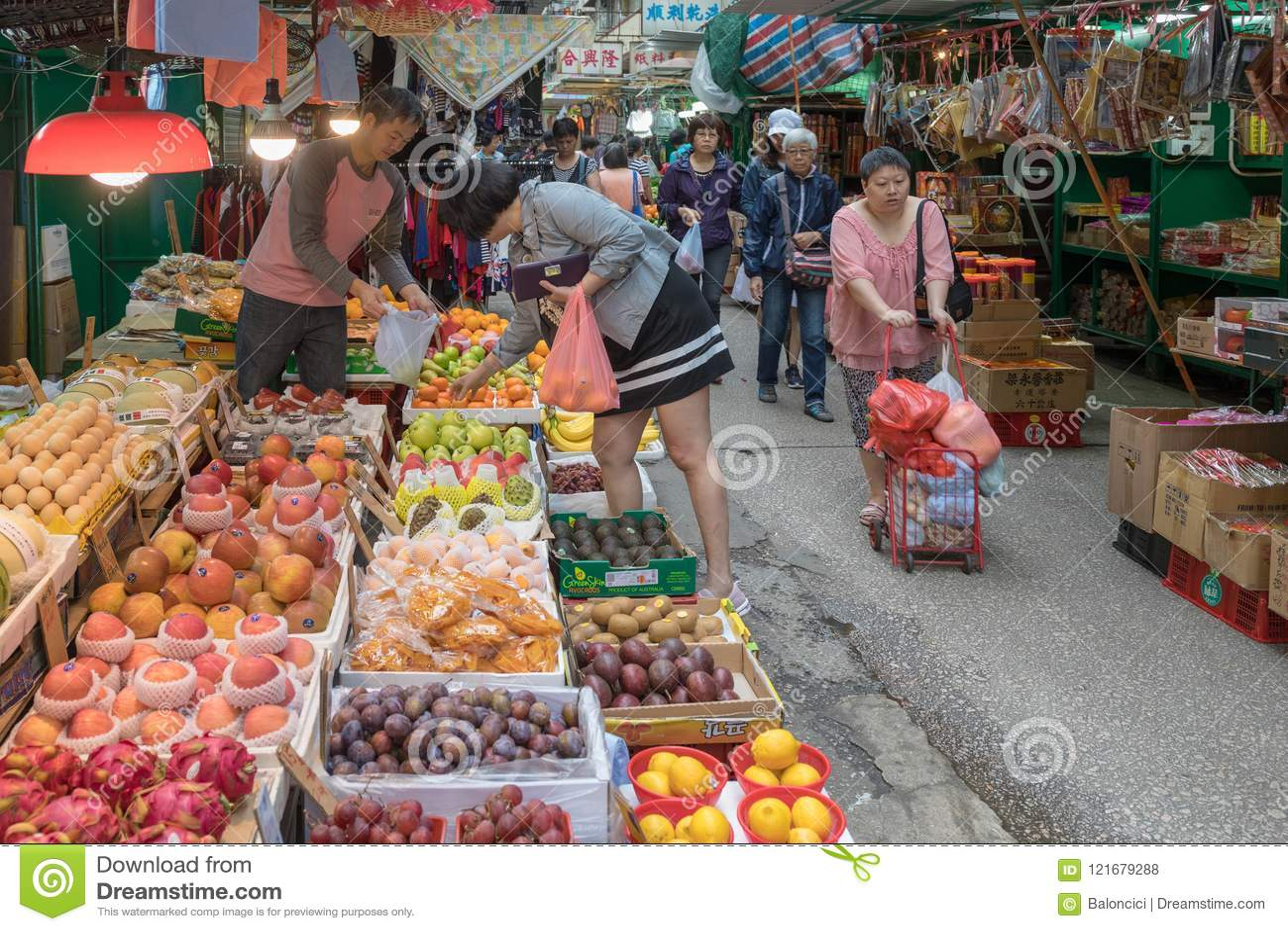 Mercado callejero Hong Kong