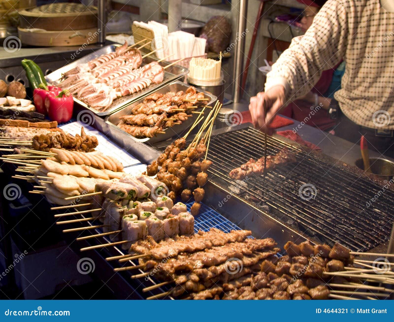 Mercado chinês do alimento