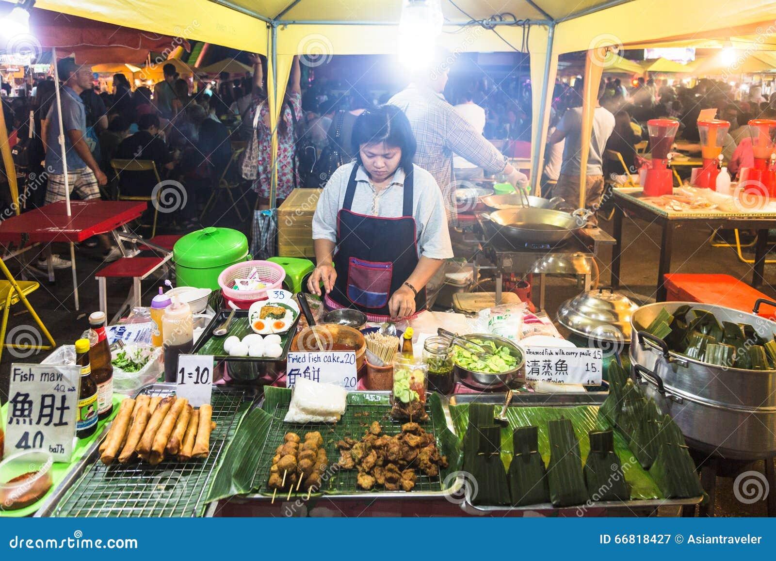 Mercado da noite de Krabi
