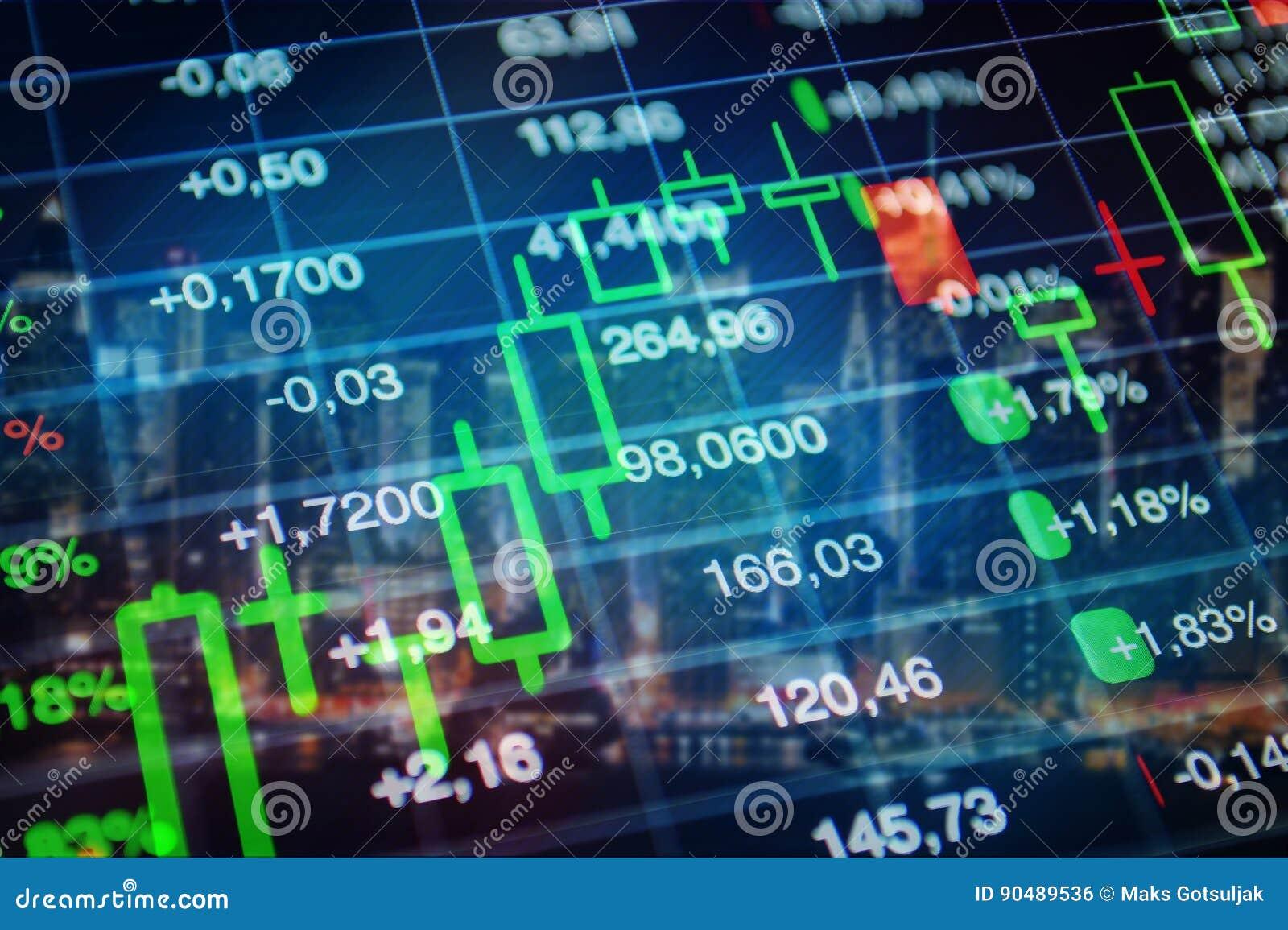 Mercado de acción, fondo de la economía