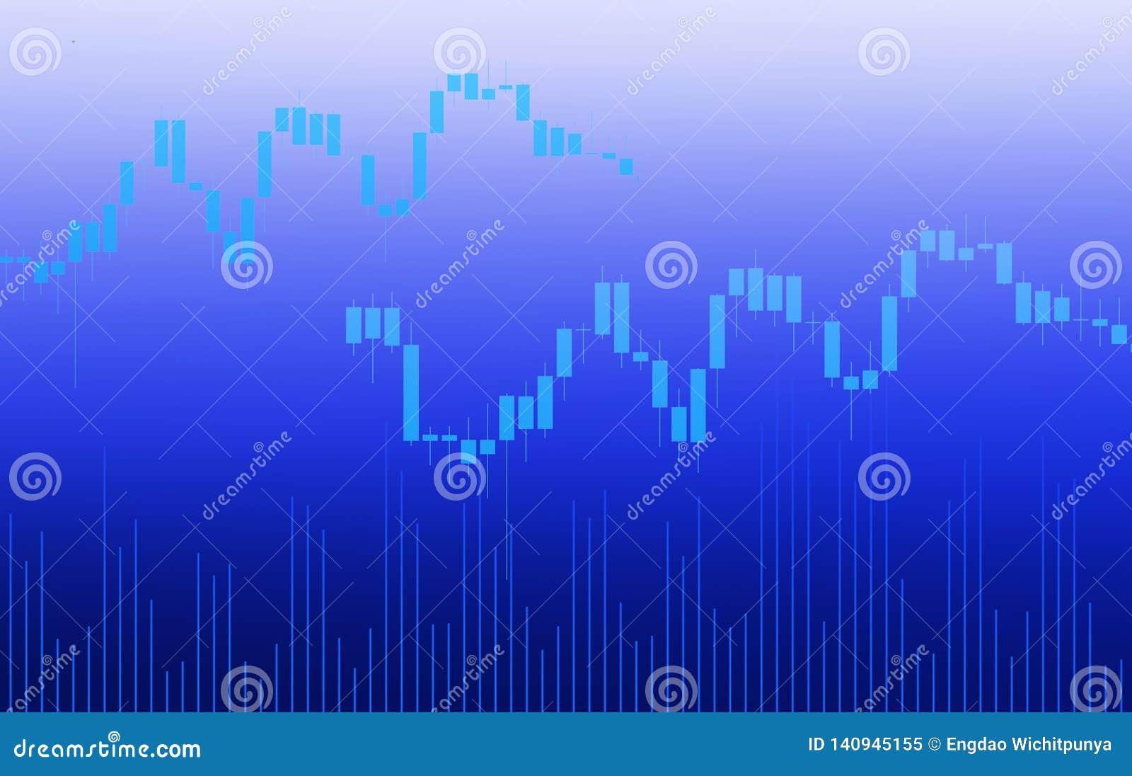 Mercado de bolsa de acción o indicador comercial de la inversión del análisis del gráfico de las divisas