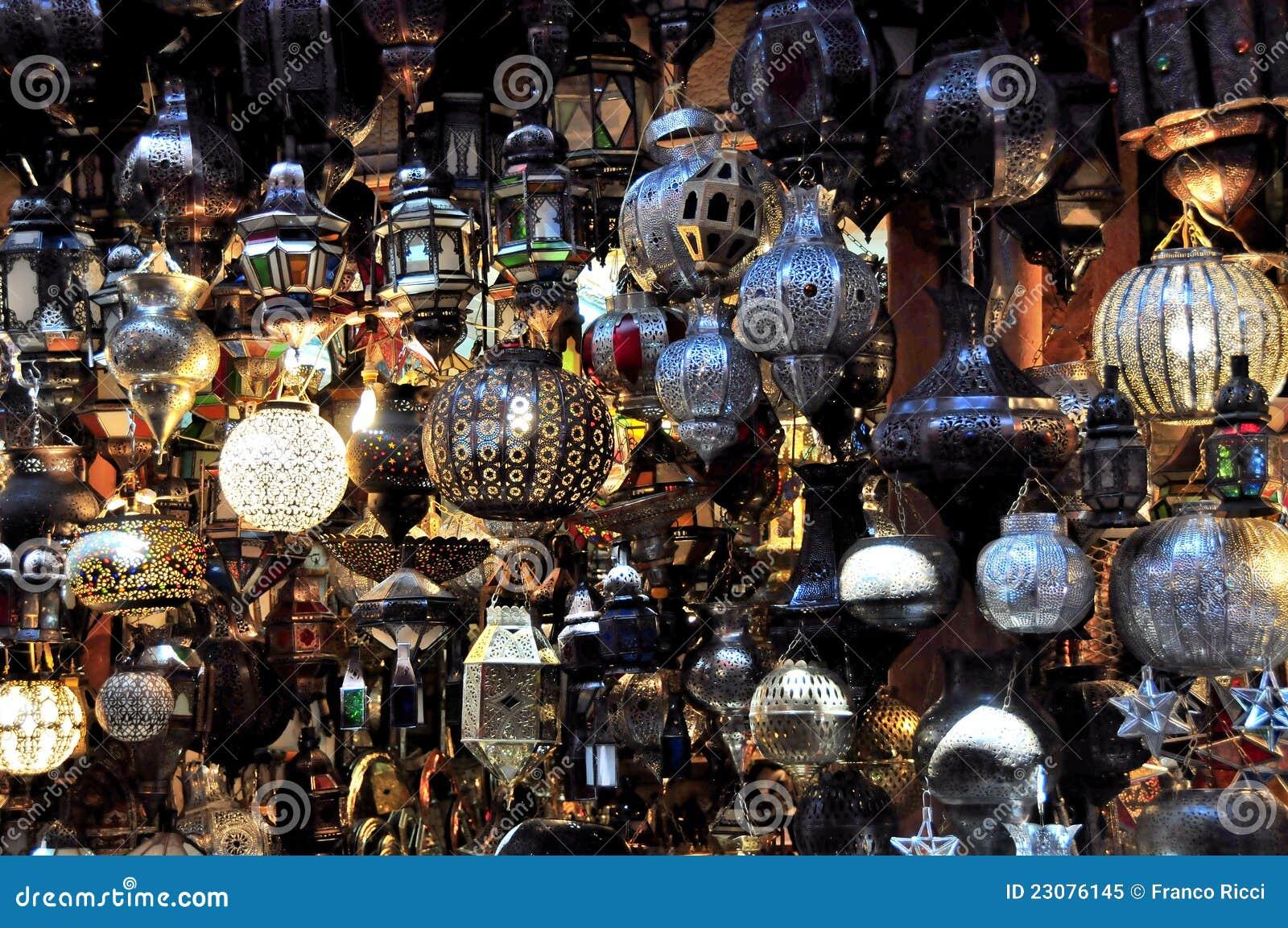 Mercado de C4marraquexe em Marrocos