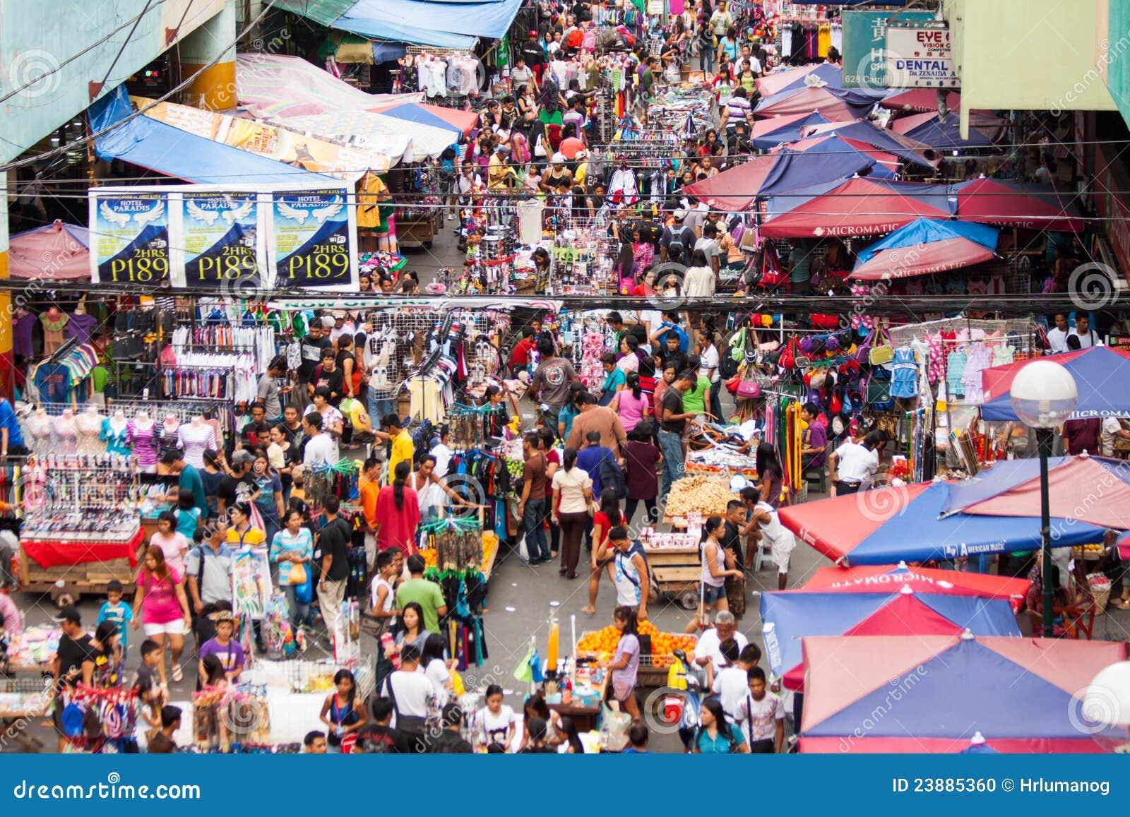 Mercado de calle en las Filipinas