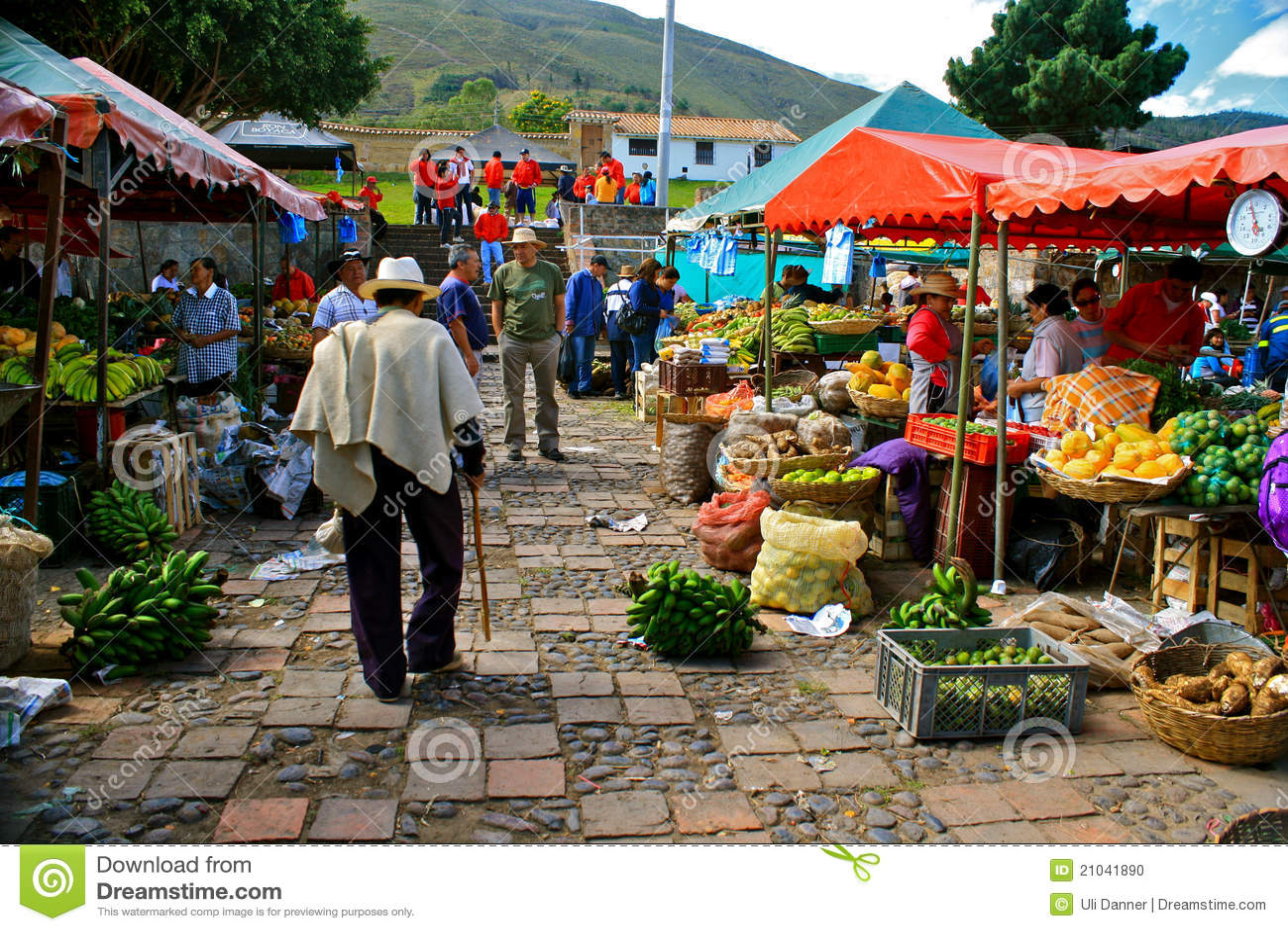 Mercado de Farmer´s, Casa de campo de Leyva, Colômbia