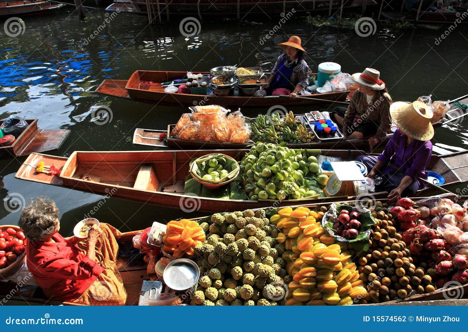 Mercado de flutuação, Tailândia