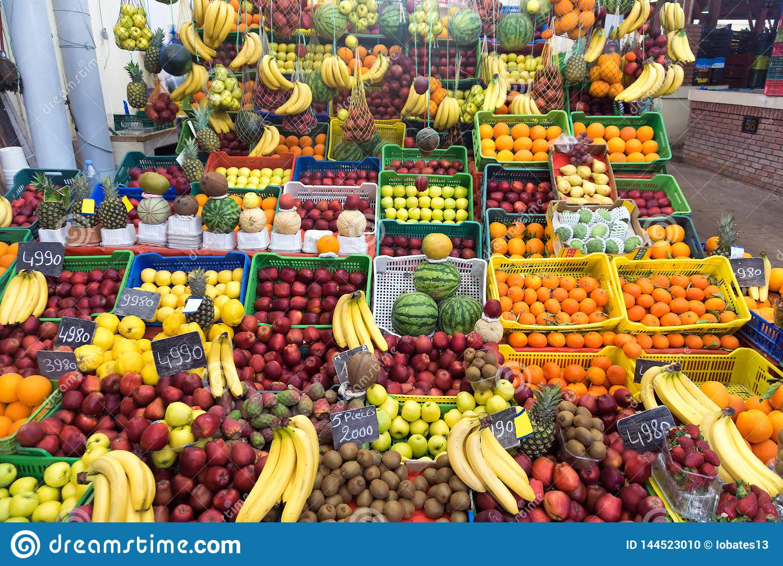 Mercado de fruto em Tunes, Tunísia