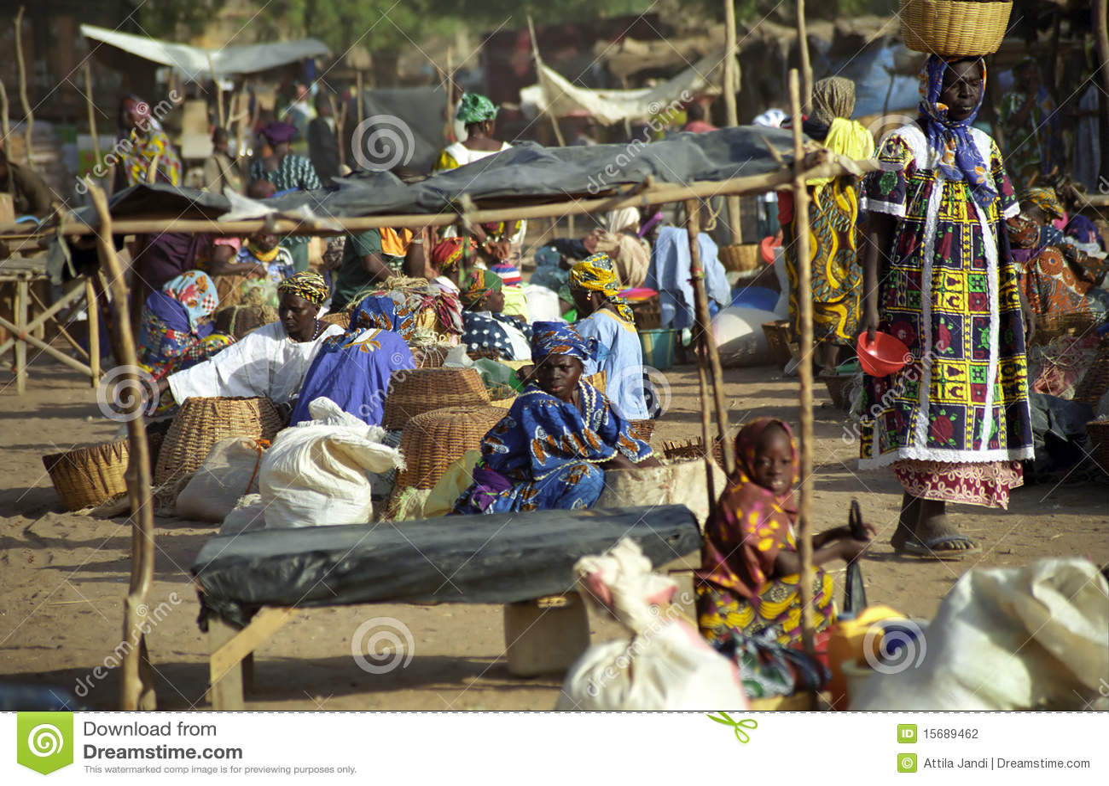 Mercado de lunes, Djenne, Malí