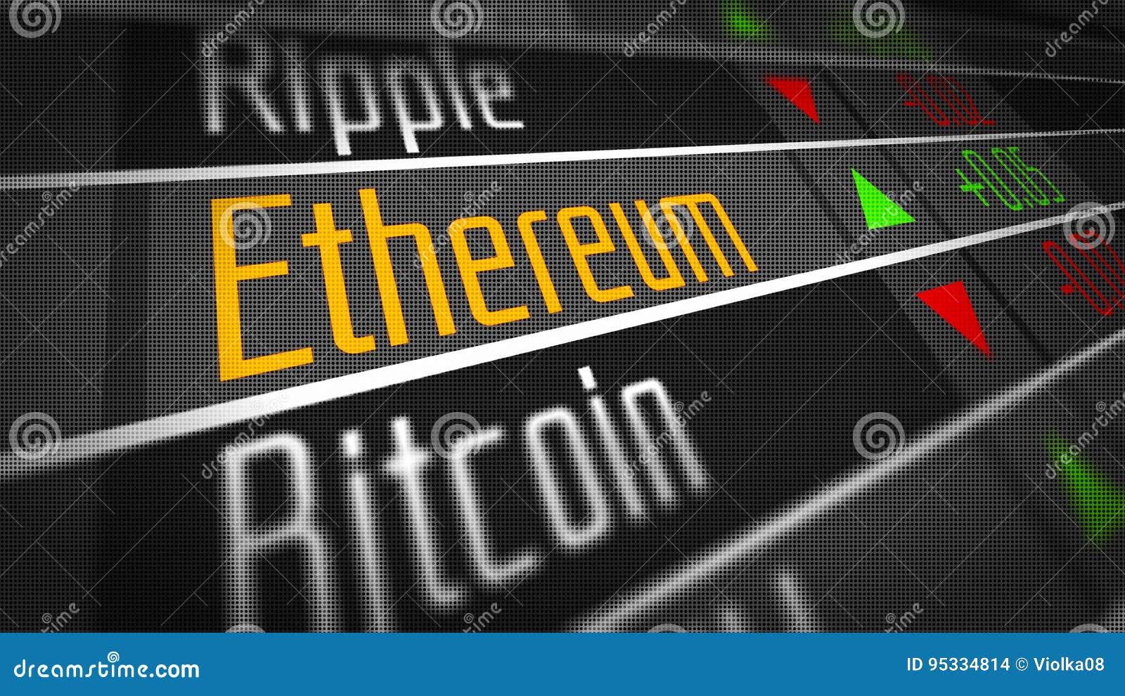 Mercado de moneda Crypto de Ethereum