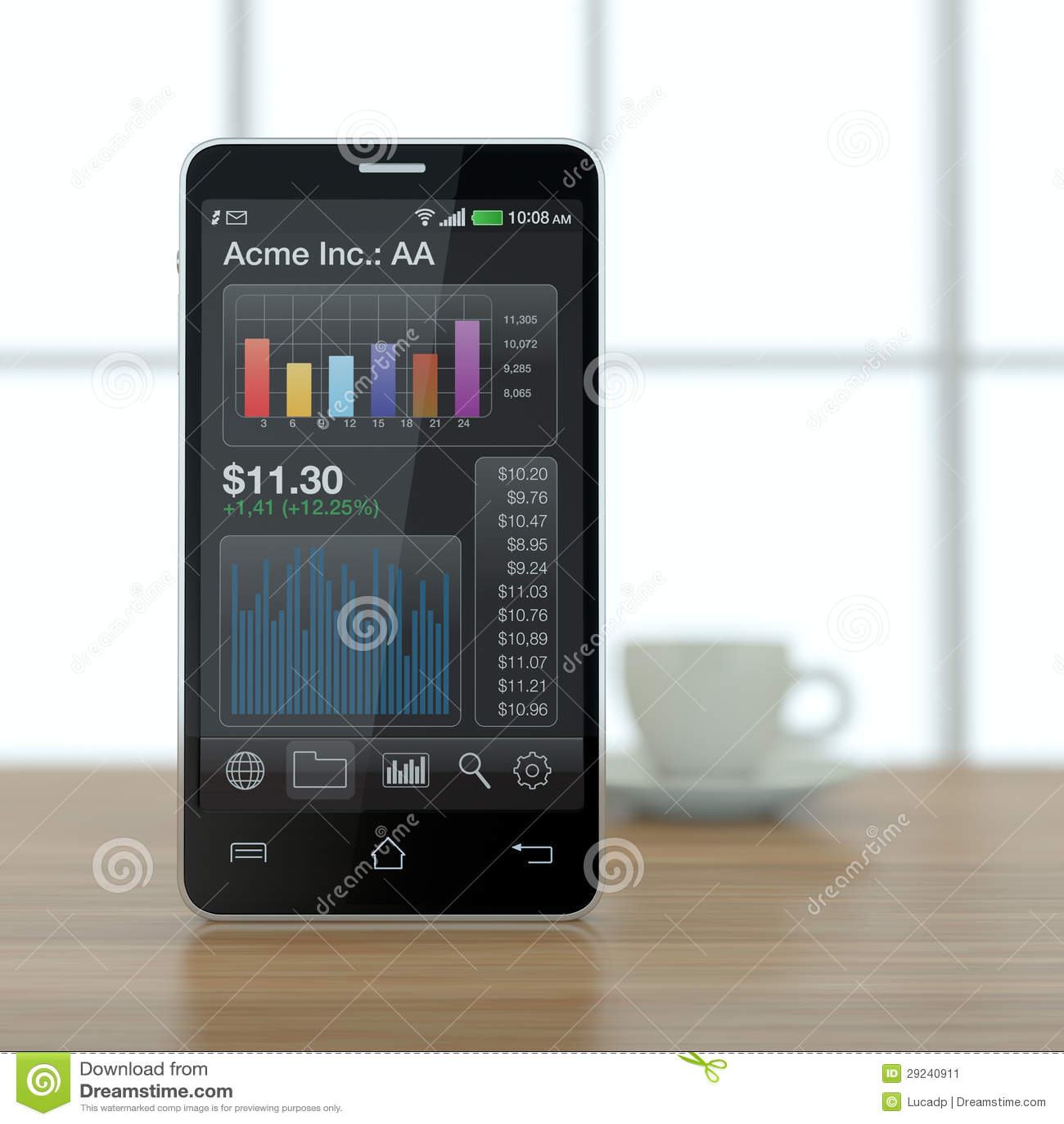 Download Mercado De Valores De Acção E Tecnologia, Conceito Ilustração Stock - Ilustração de cellphone, dinheiro: 29240911