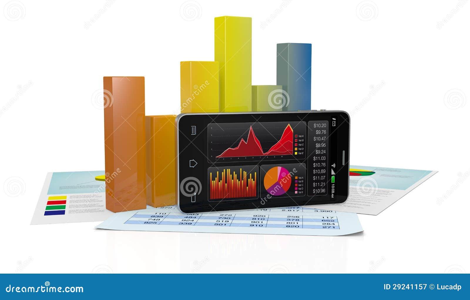 Download Mercado De Valores De Acção E Tecnologia, Conceito Ilustração Stock - Ilustração de computador, internet: 29241157