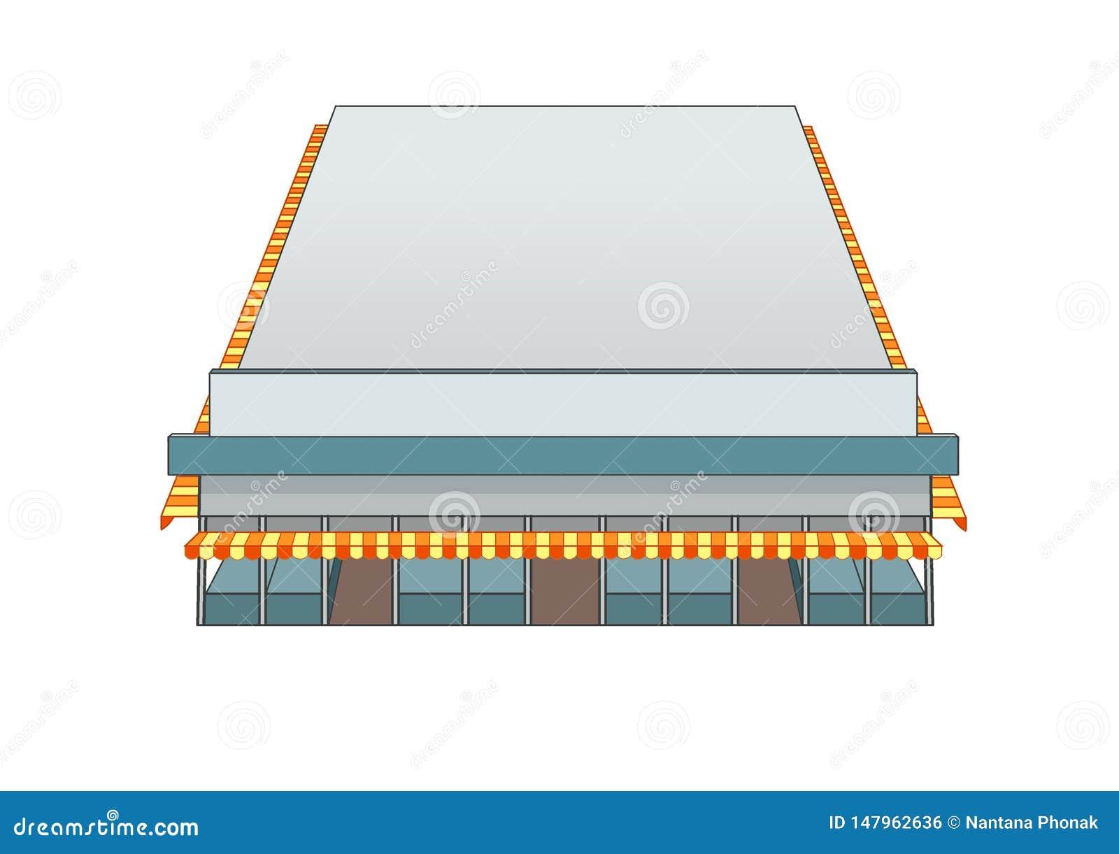 Mercado del edificio del diseño y color del gris