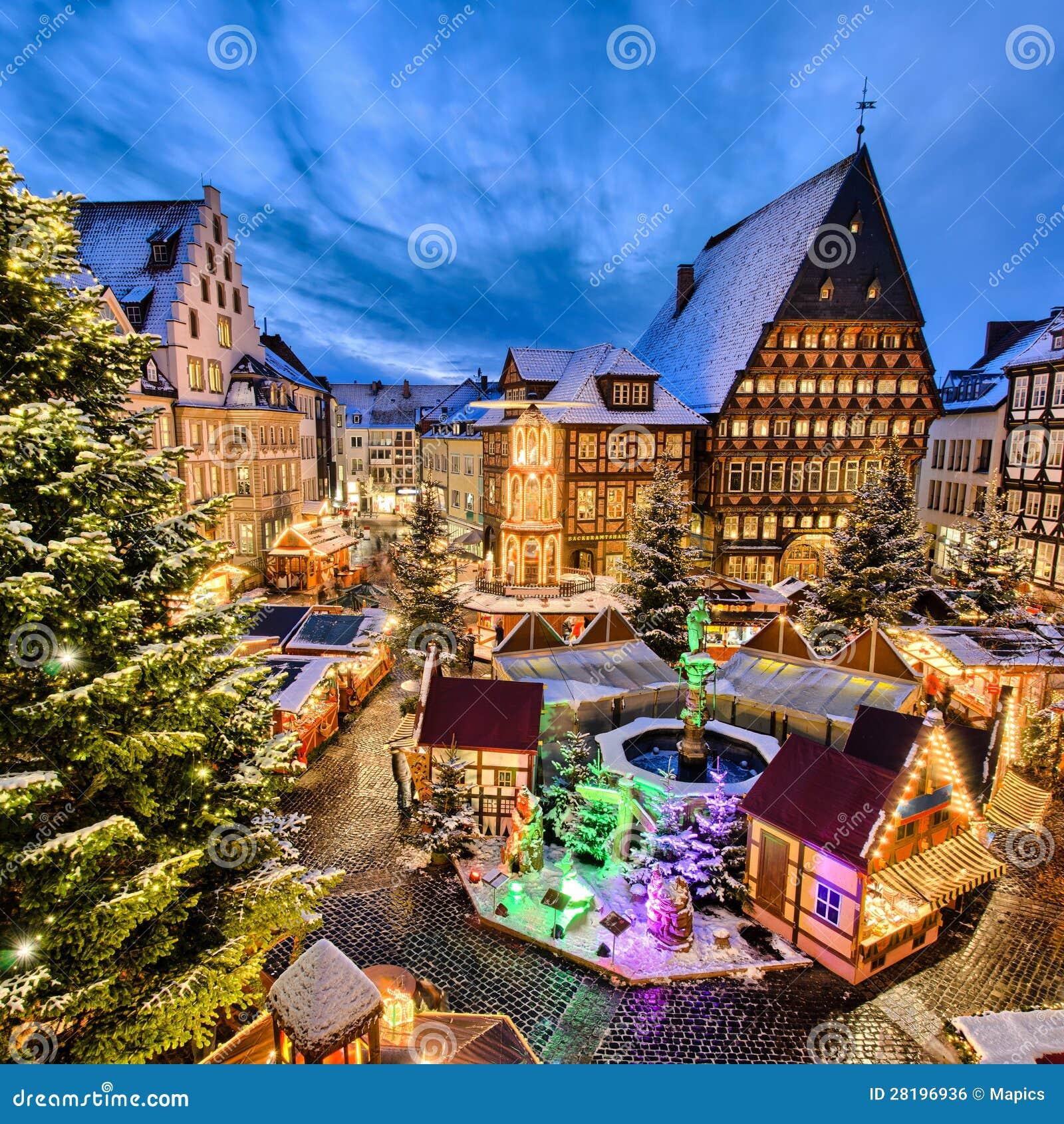 Mercado do Natal em Hildesheim, Alemanha